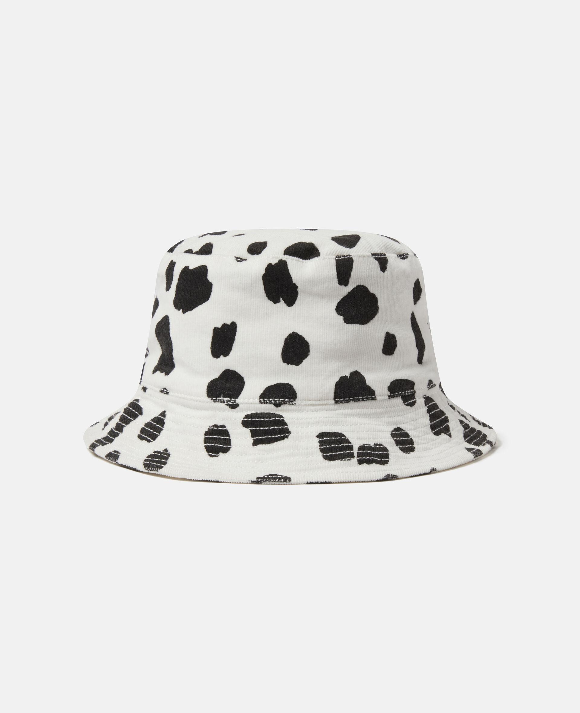 Dalmatian Spots Corduroy Hat-White-large image number 1