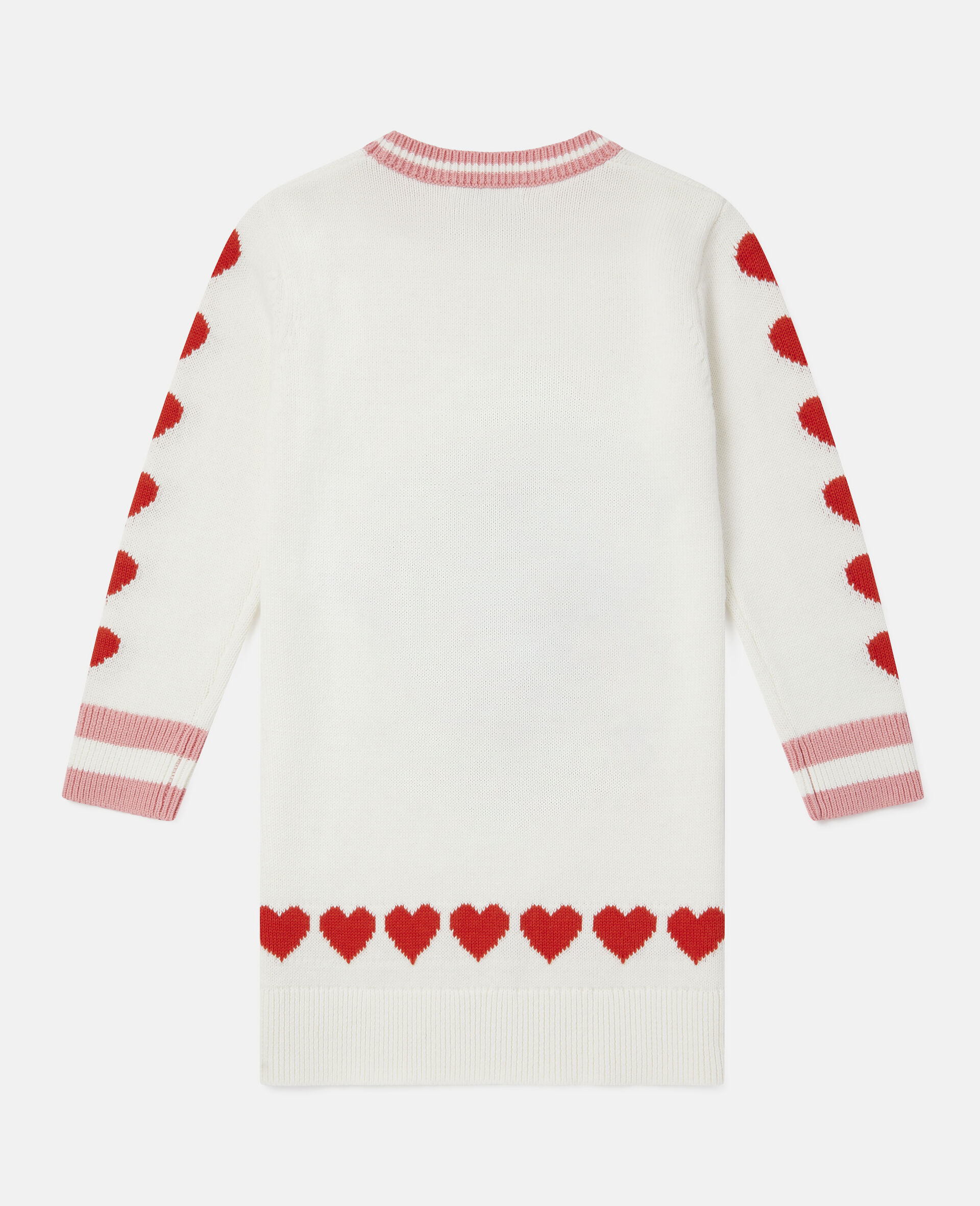Poodle Knit Intarsia Dress-White-large image number 3