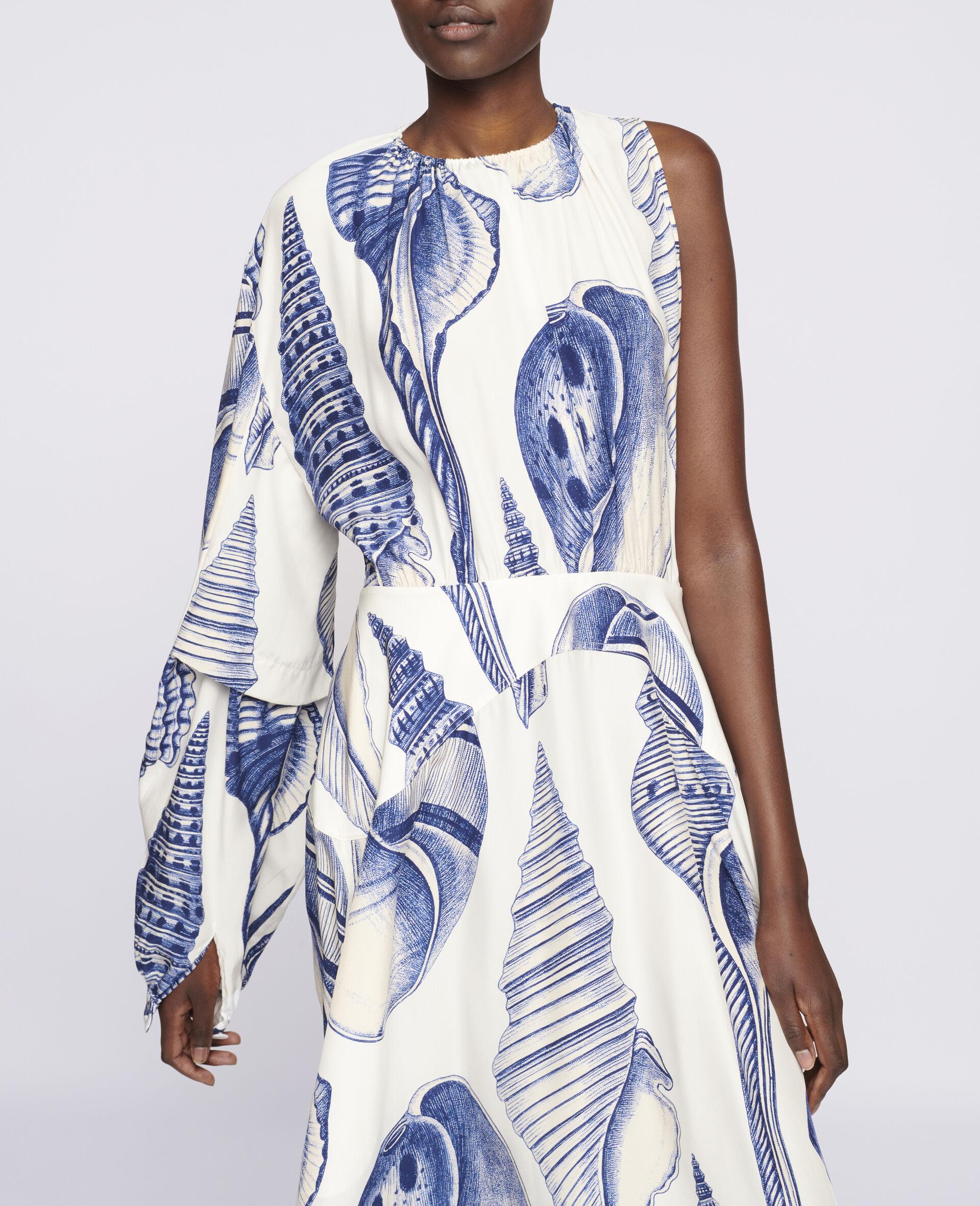 Cassandra Silk Dress-White-large image number 3