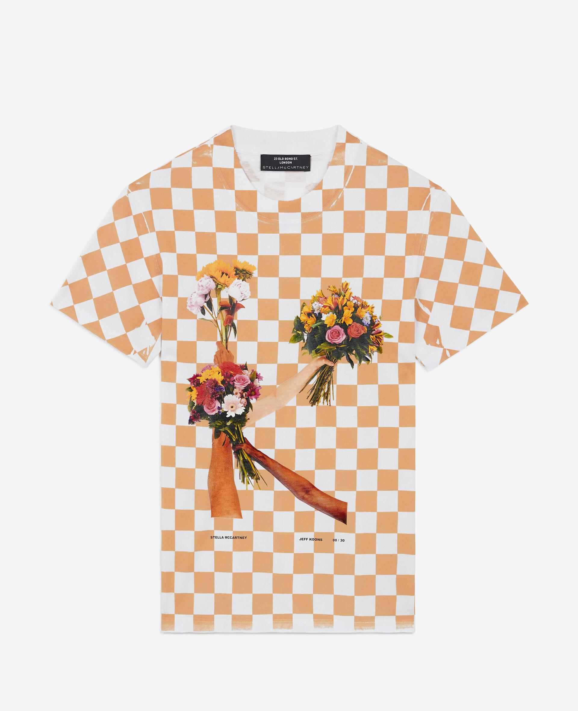 "T-Shirt ""K"" di Jeff Koons-Bianco-large image number 0"