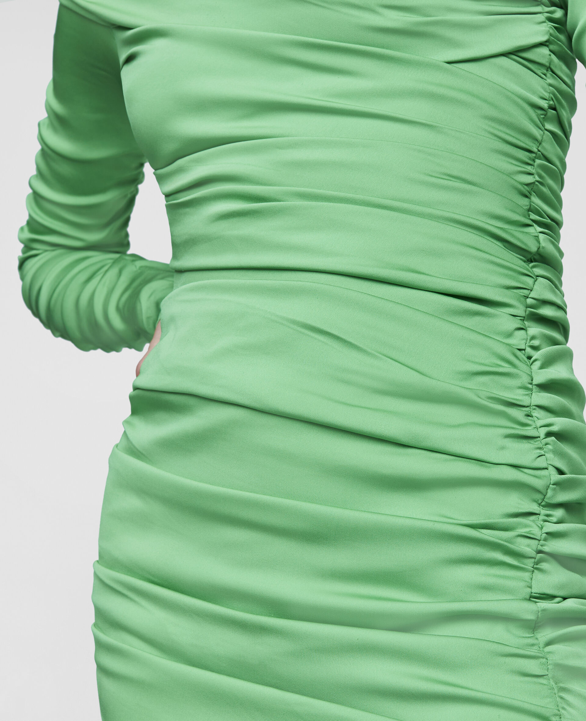 Faye Mini Dress-Green-large image number 3