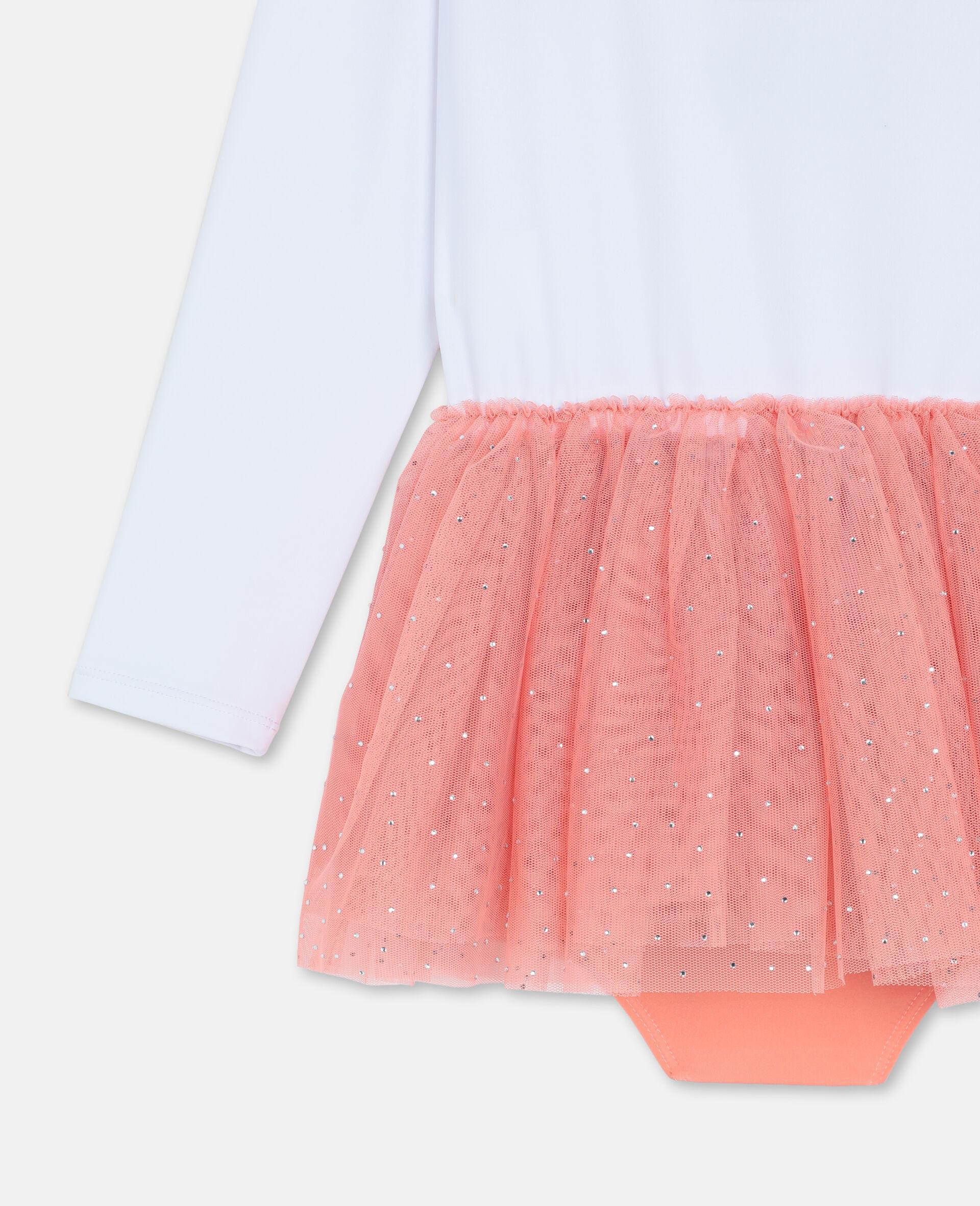 Flamingo Dress-White-large image number 2