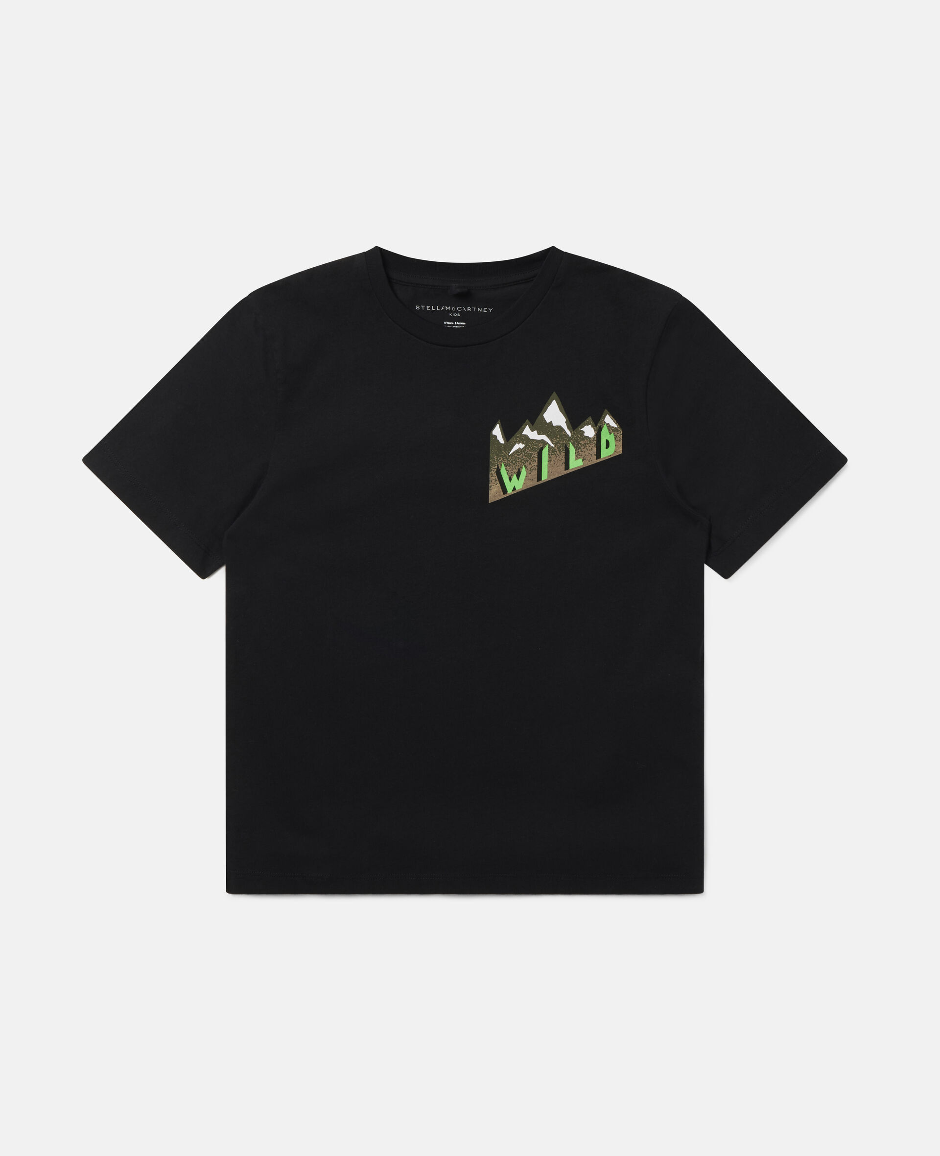 Oversized Mountain T-shirt-Black-large image number 0