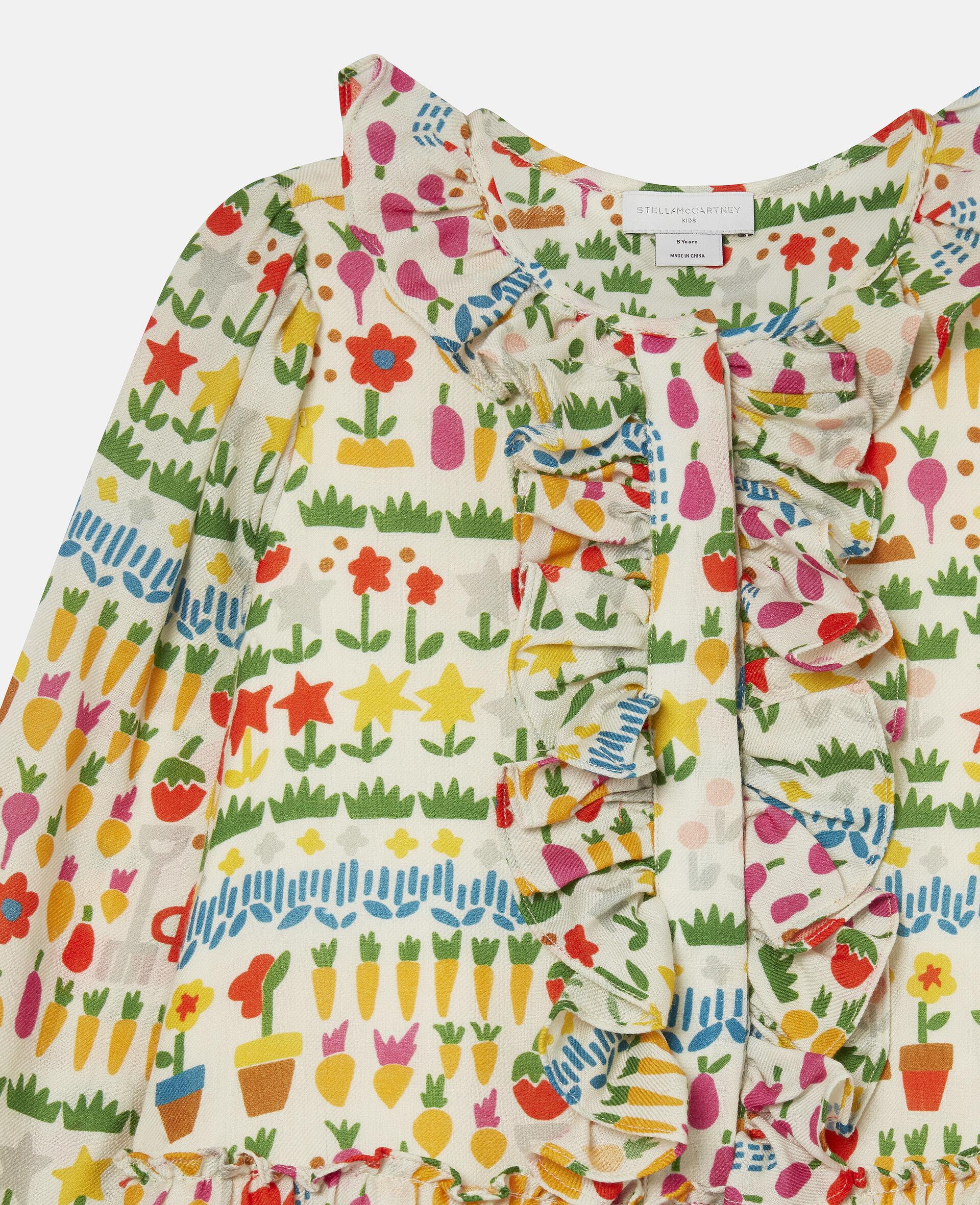 Robe en laine motifs jardin-Fantaisie-large image number 2