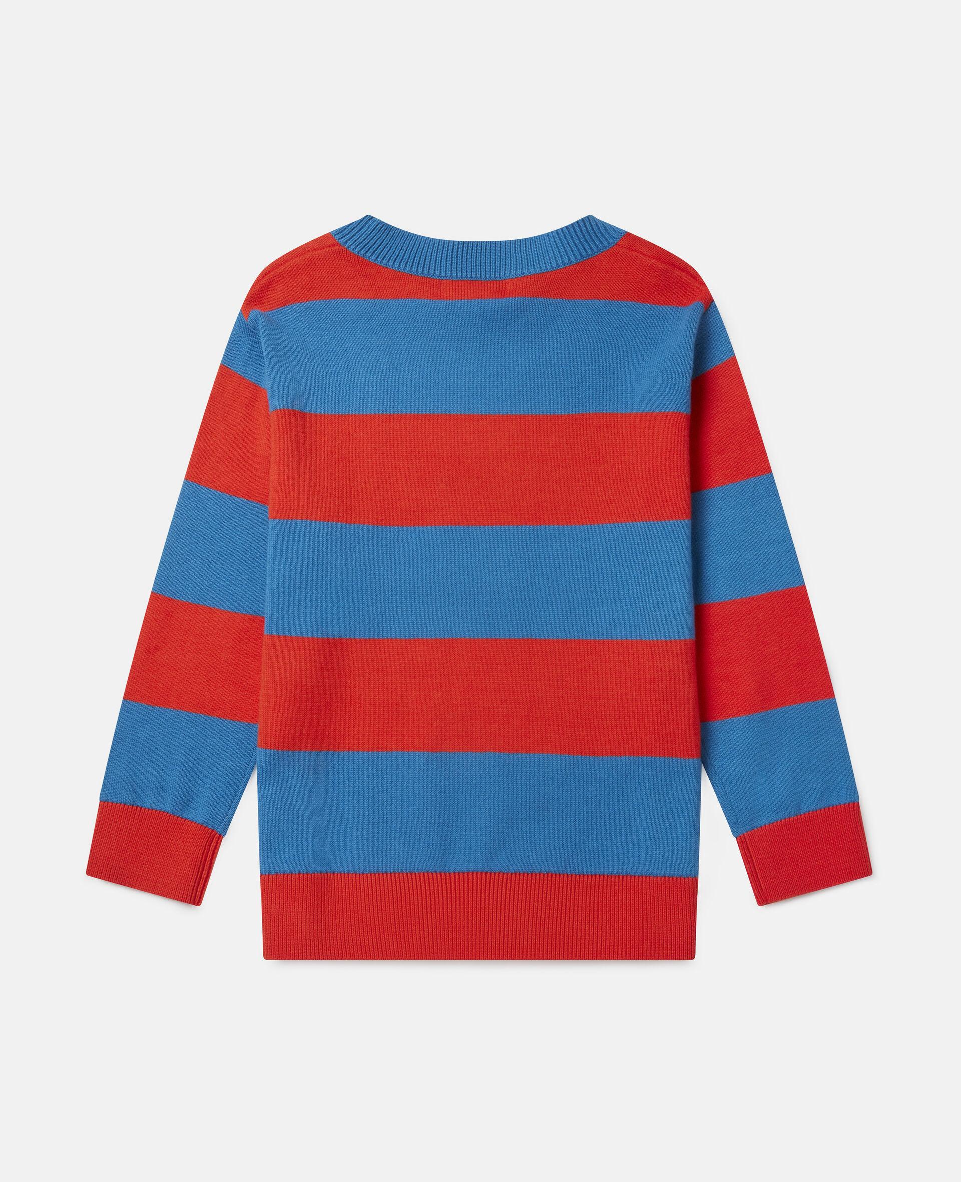 Crazy Dog Oversized Knit Intarsia Sweater-Multicoloured-large image number 3