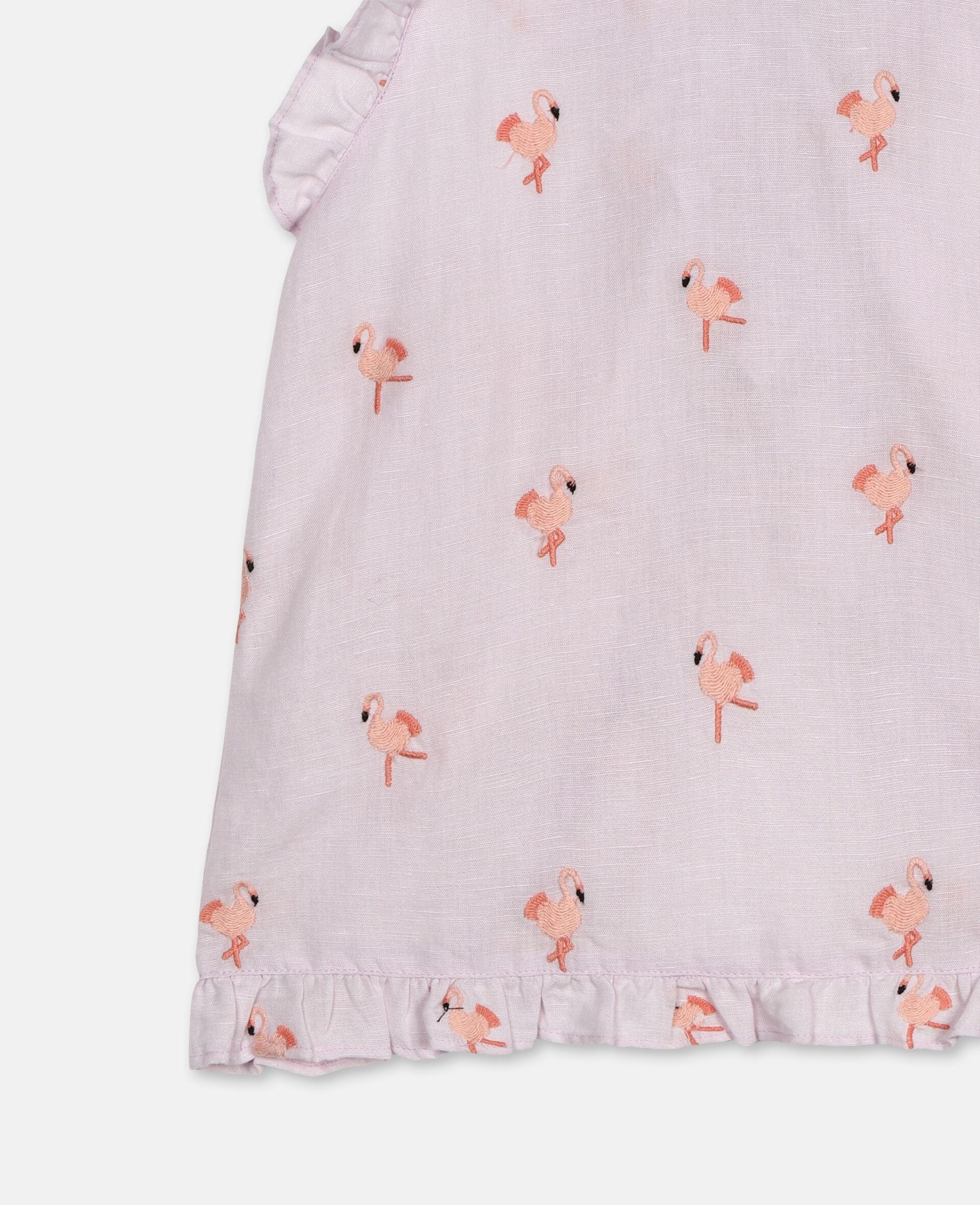 Flamingo刺绣上衣 -粉色-large image number 2