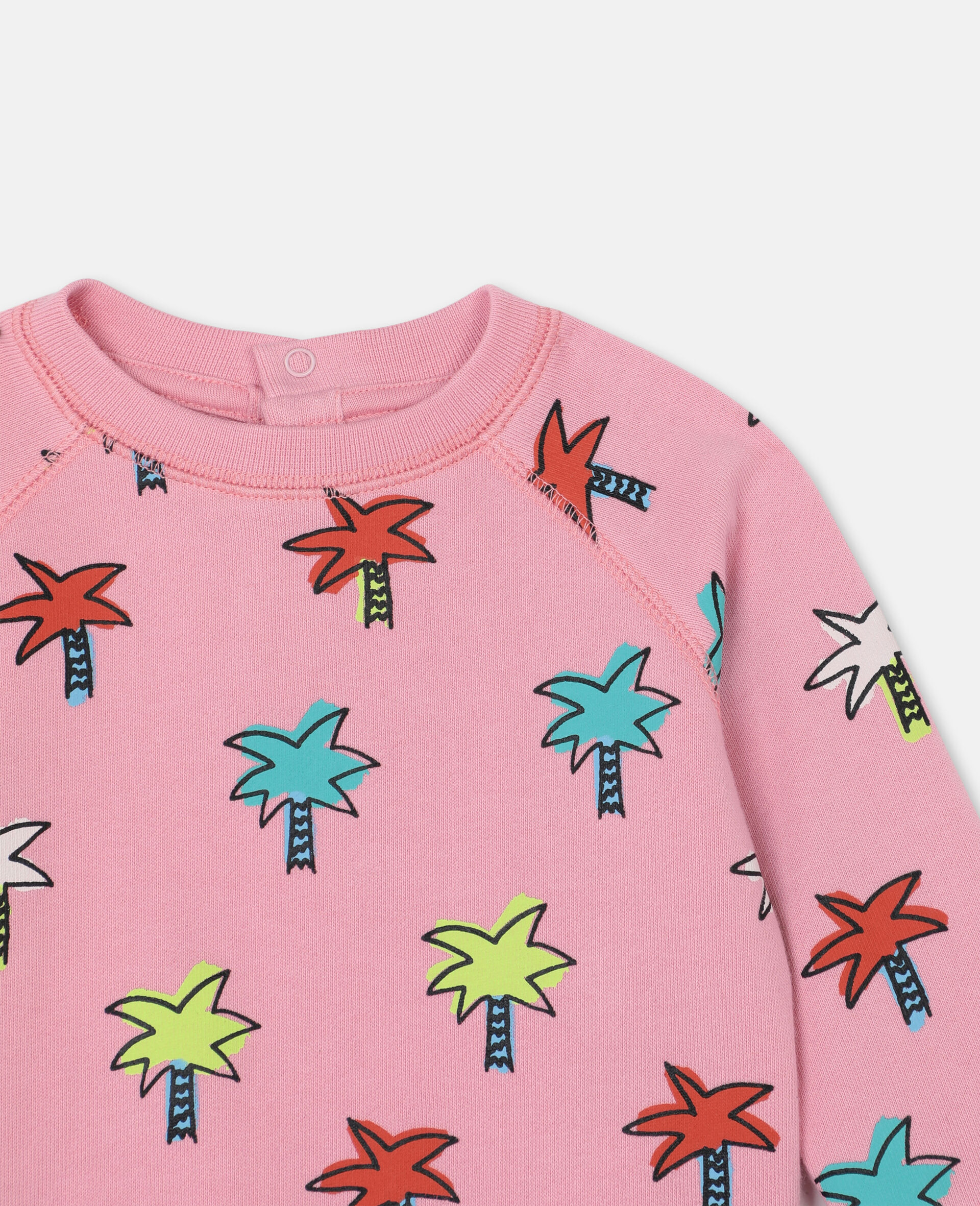 Doodly Palms Cotton Sweatshirt -Pink-large image number 1