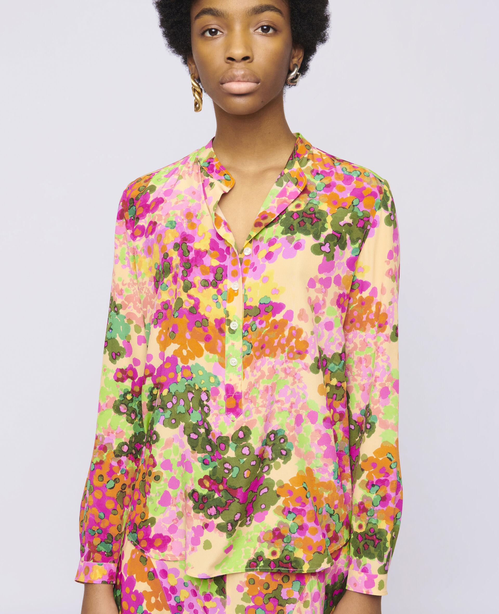 Eva Silk Shirt-Multicolour-large image number 3