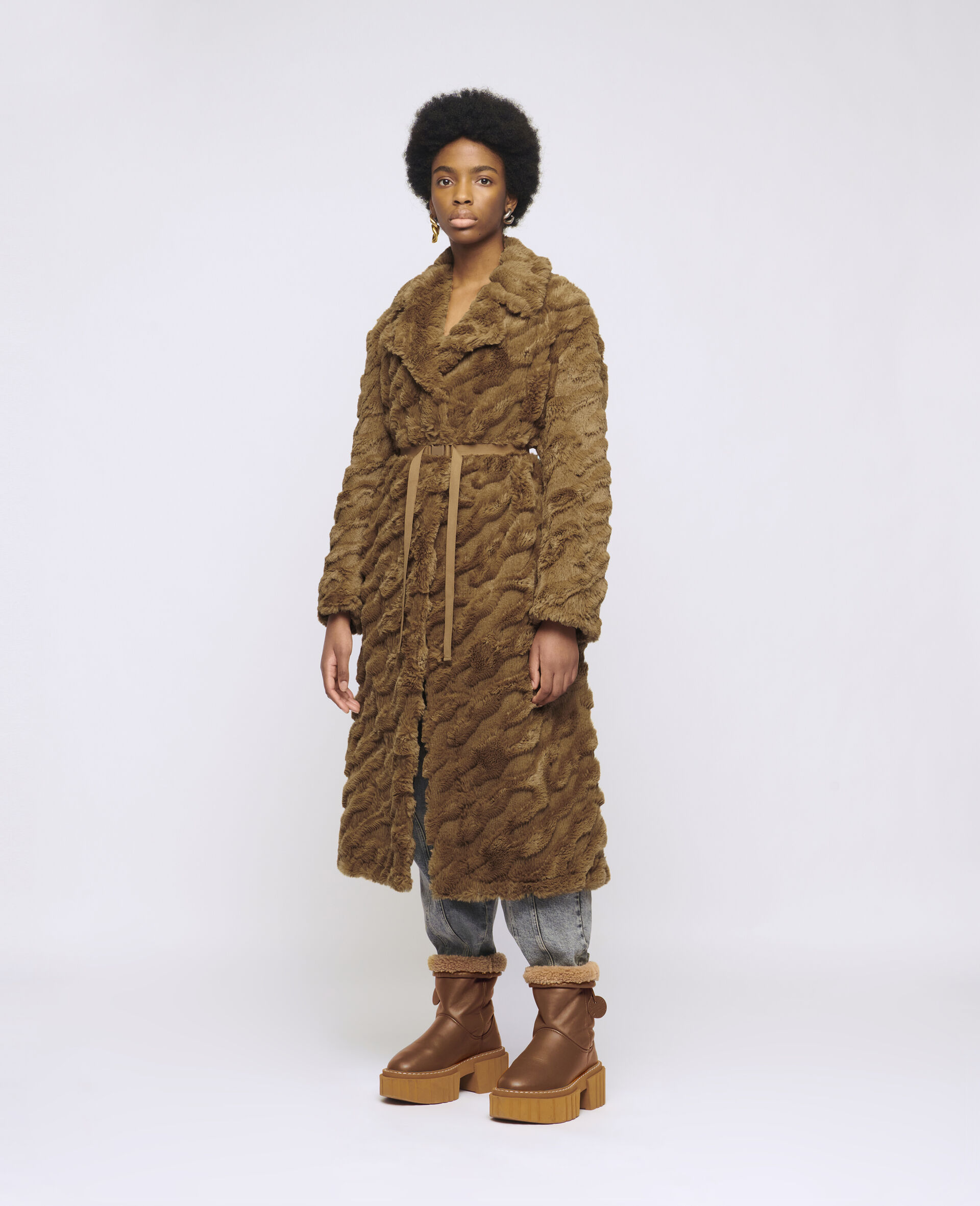 Melina Koba FFF Coat-Brown-large image number 1