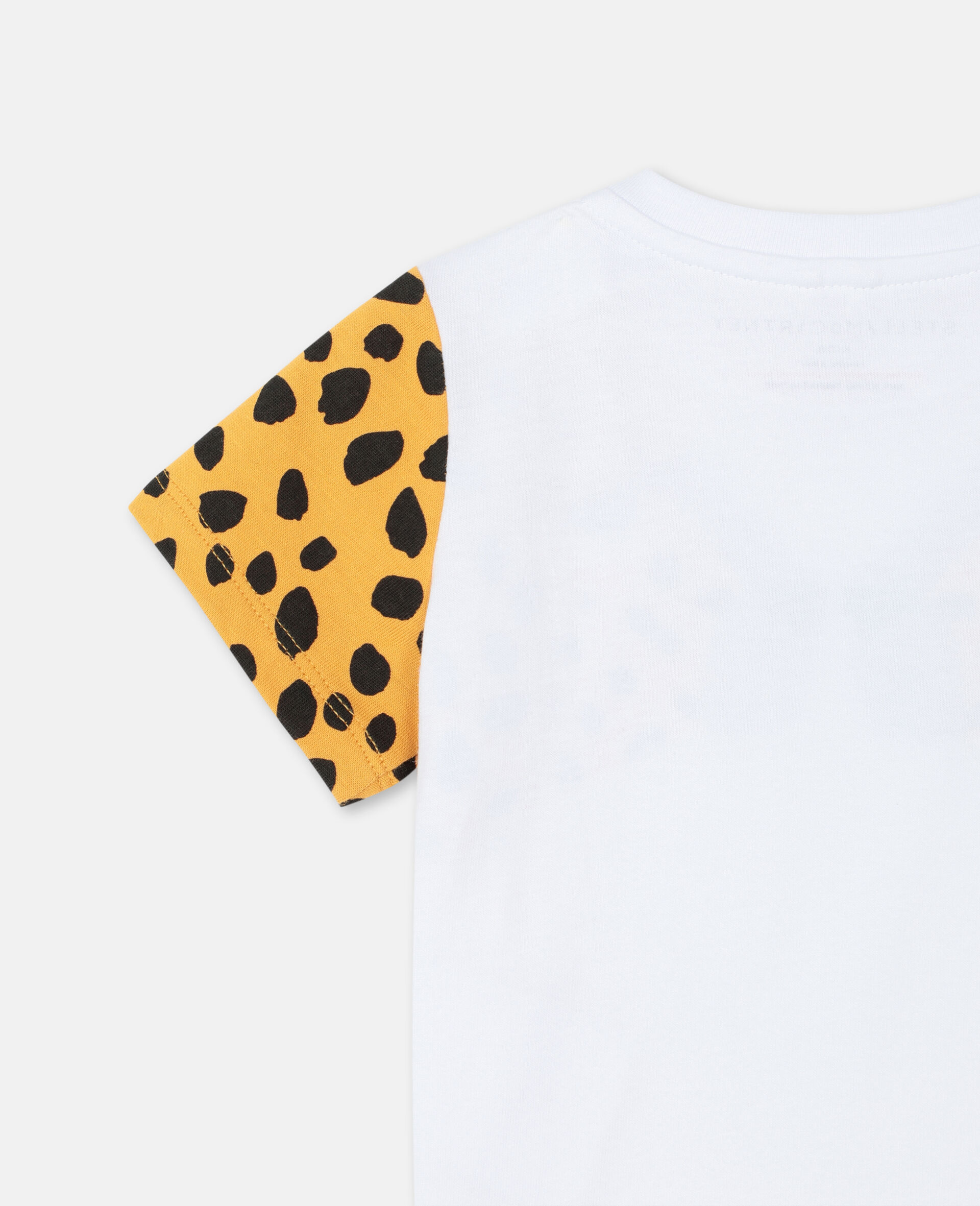 Cheetah Cotton T-shirt -White-large image number 2