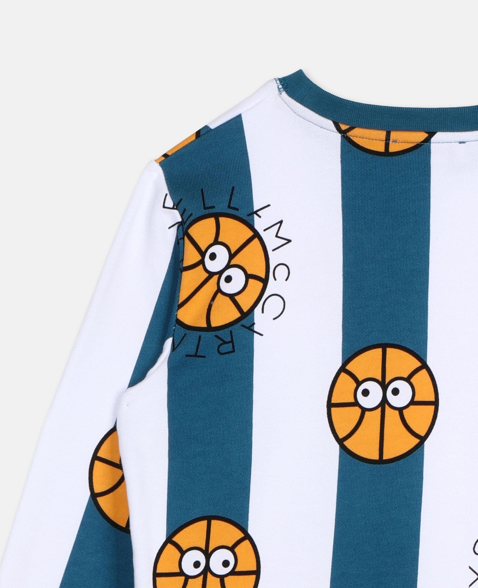 Basketball Cotton Sweatshirt -Multicolour-large image number 2