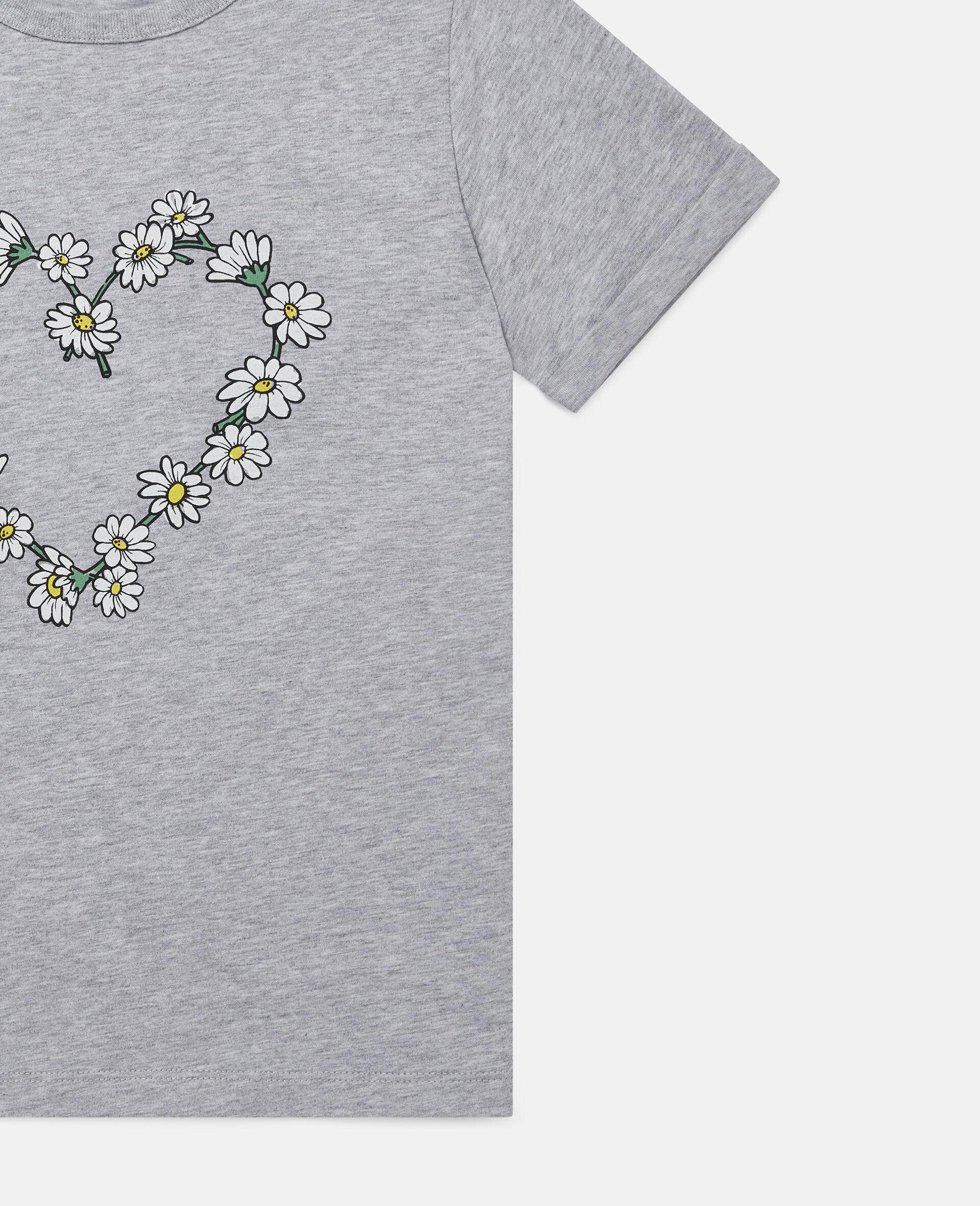 Haut en coton motif cœur en marguerites-Gris-large image number 1