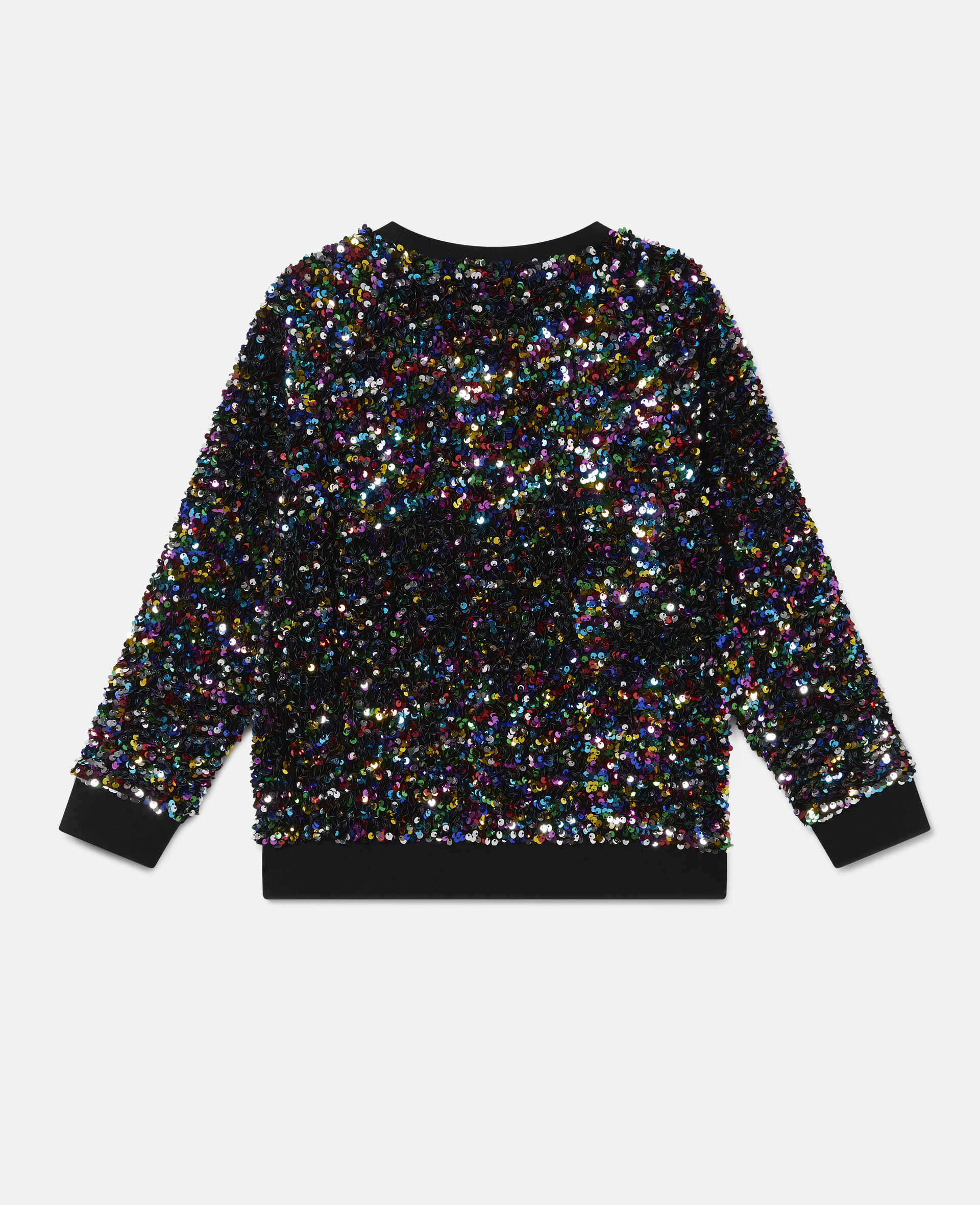 Paillettenbesetztes Sweatshirt aus Fleece -Bunt-large image number 3