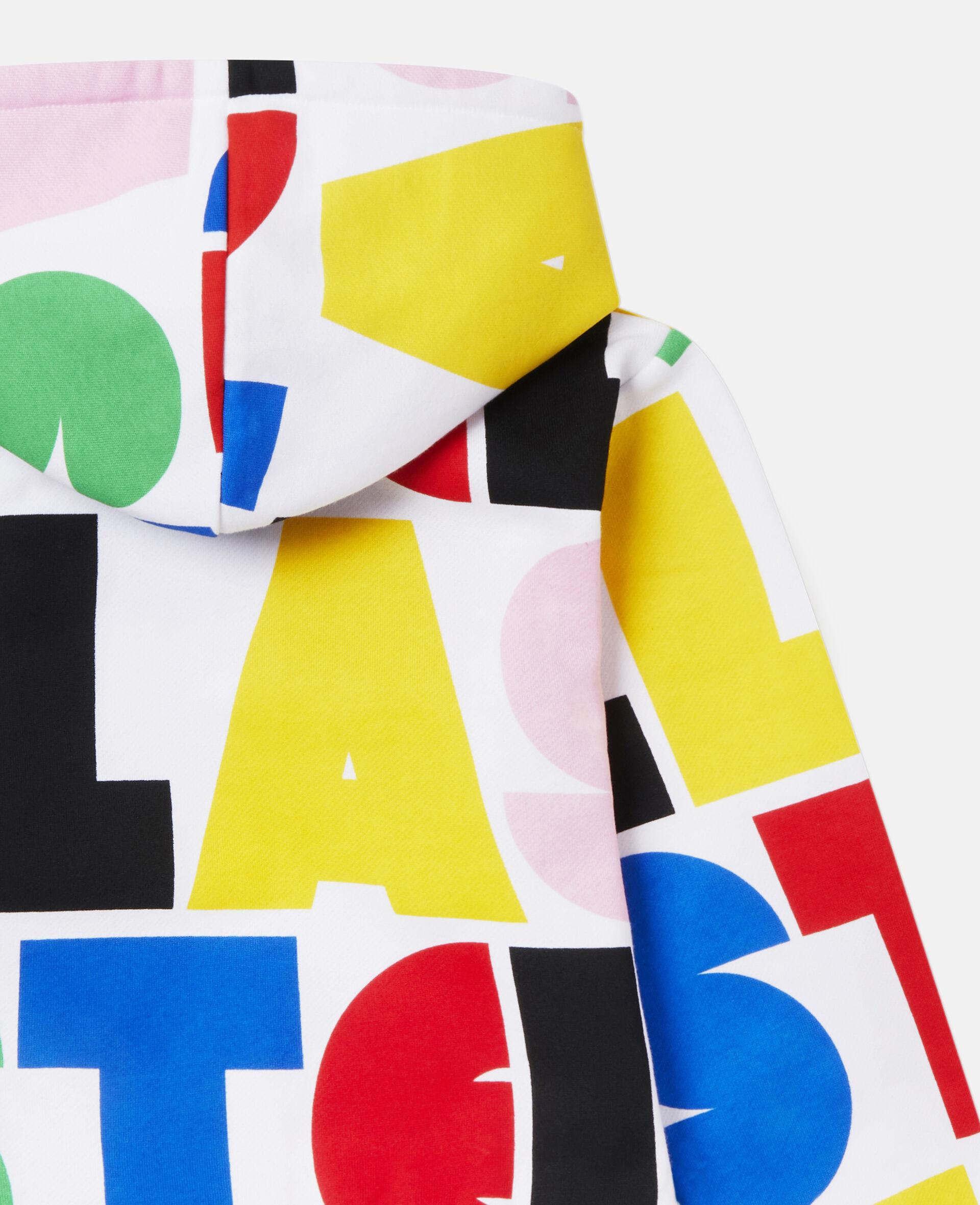 Übergroßer Kapuzenpullover aus Fleece mit Stella-Print-Bunt-large image number 2