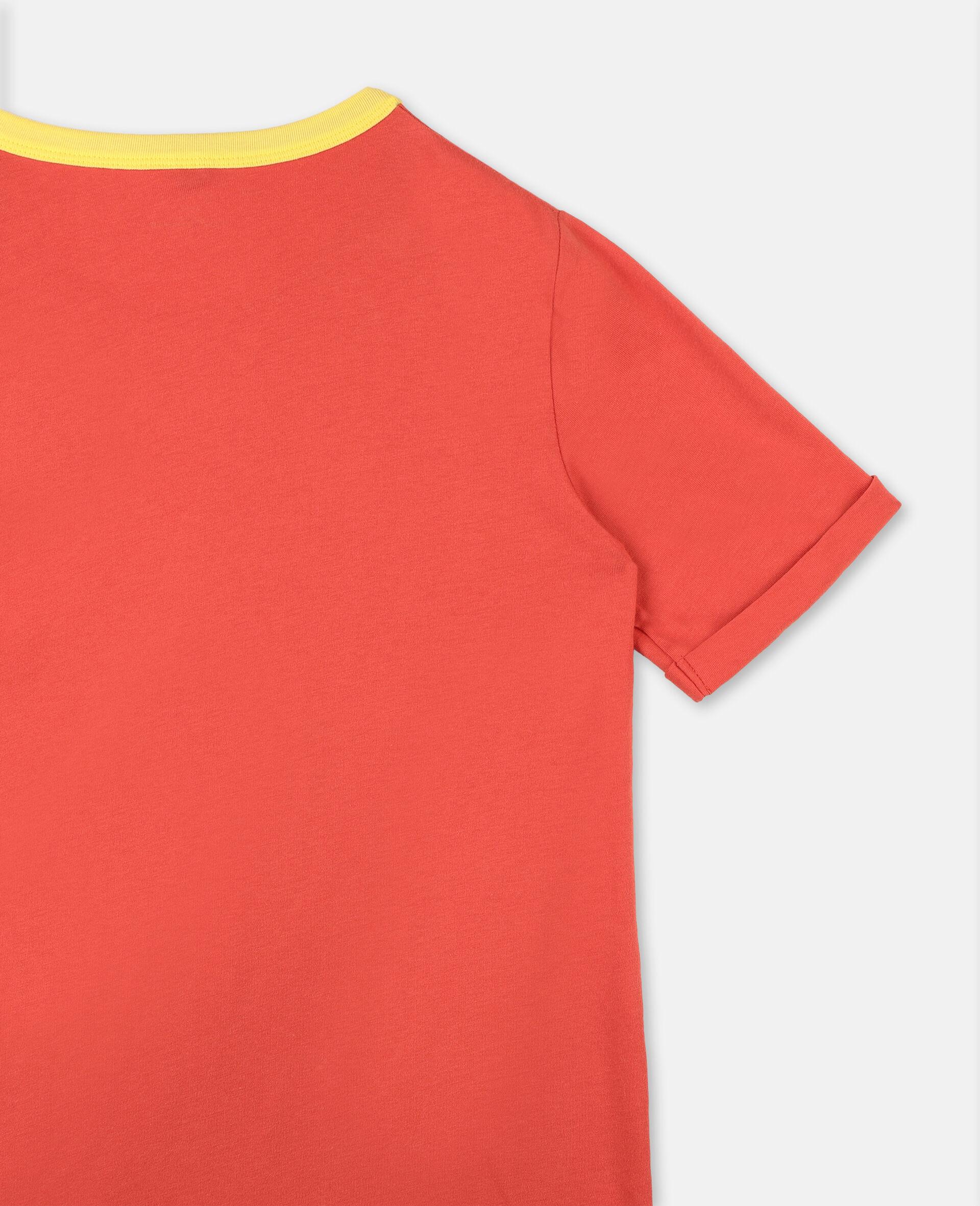 Star & Fringe Cotton Dress-Red-large image number 2
