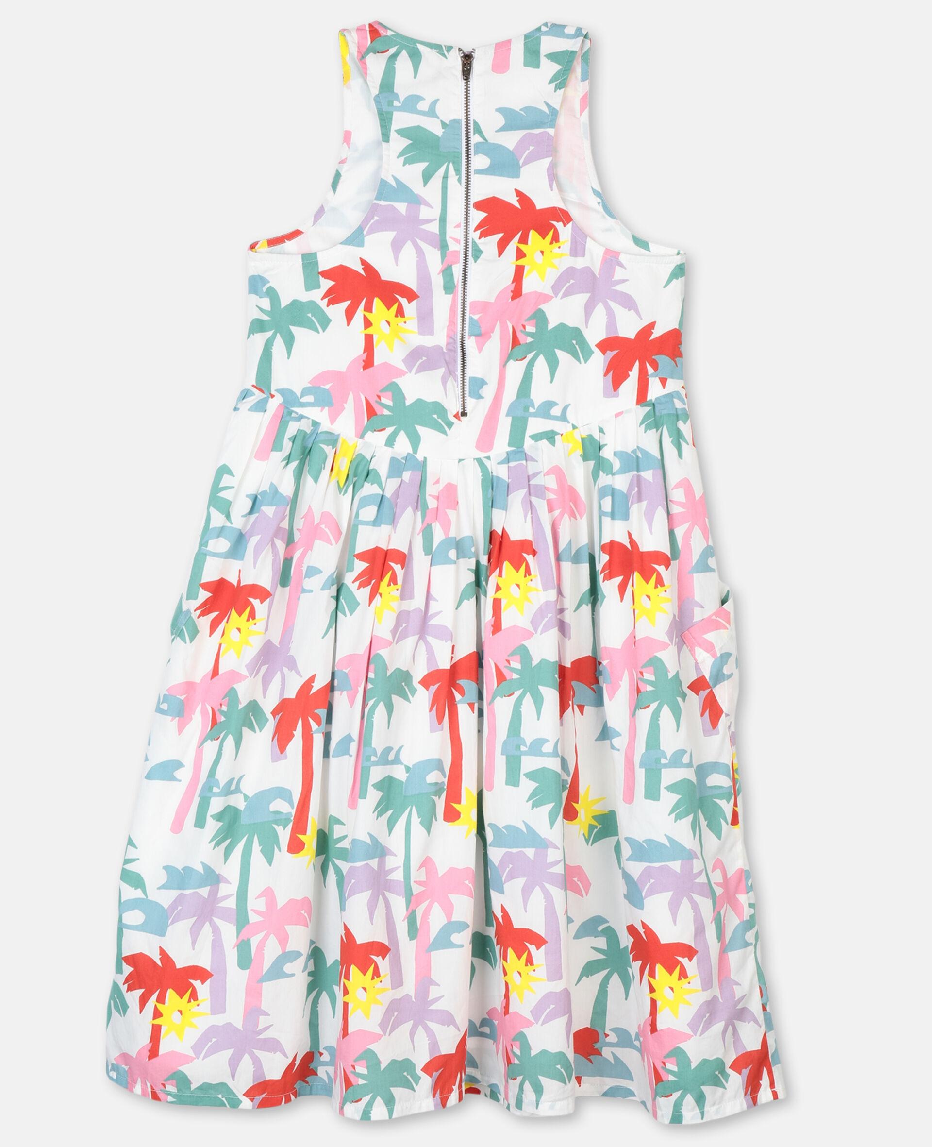 Palms Cotton Dress-Multicolour-large image number 3