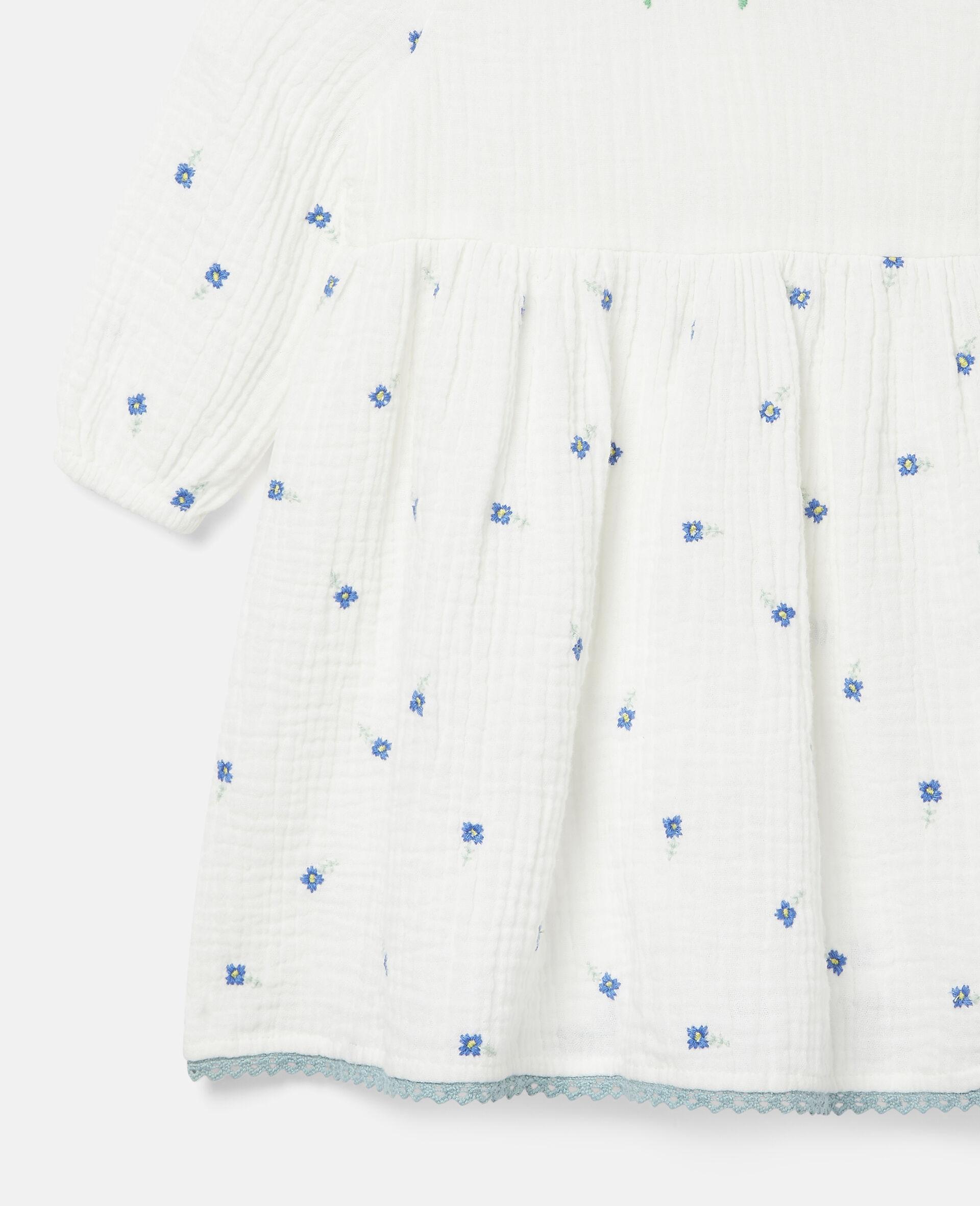 Robe en coton à fleurs brodées-Blanc-large image number 1