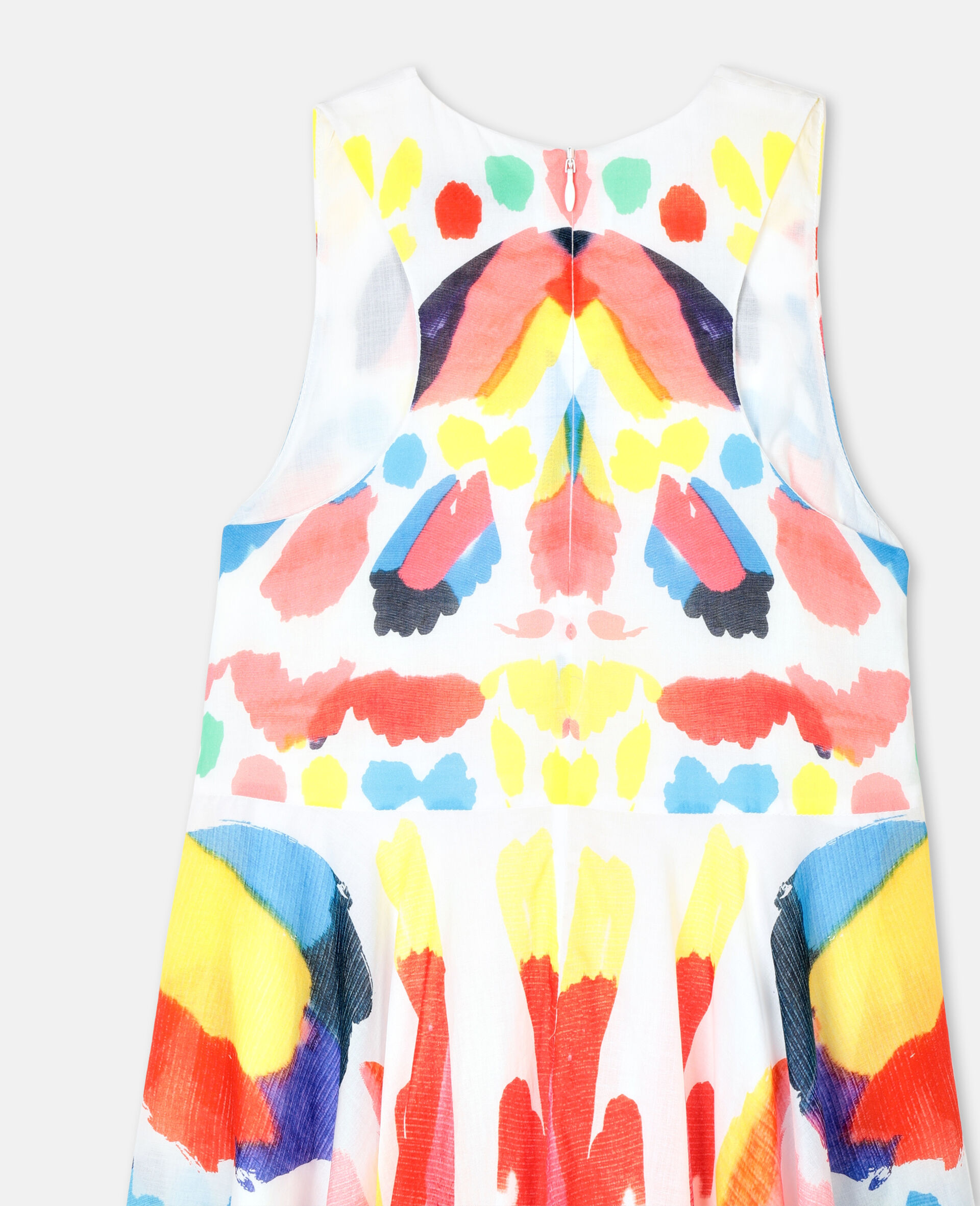 Butterfly Cotton Dress-Multicolour-large image number 2