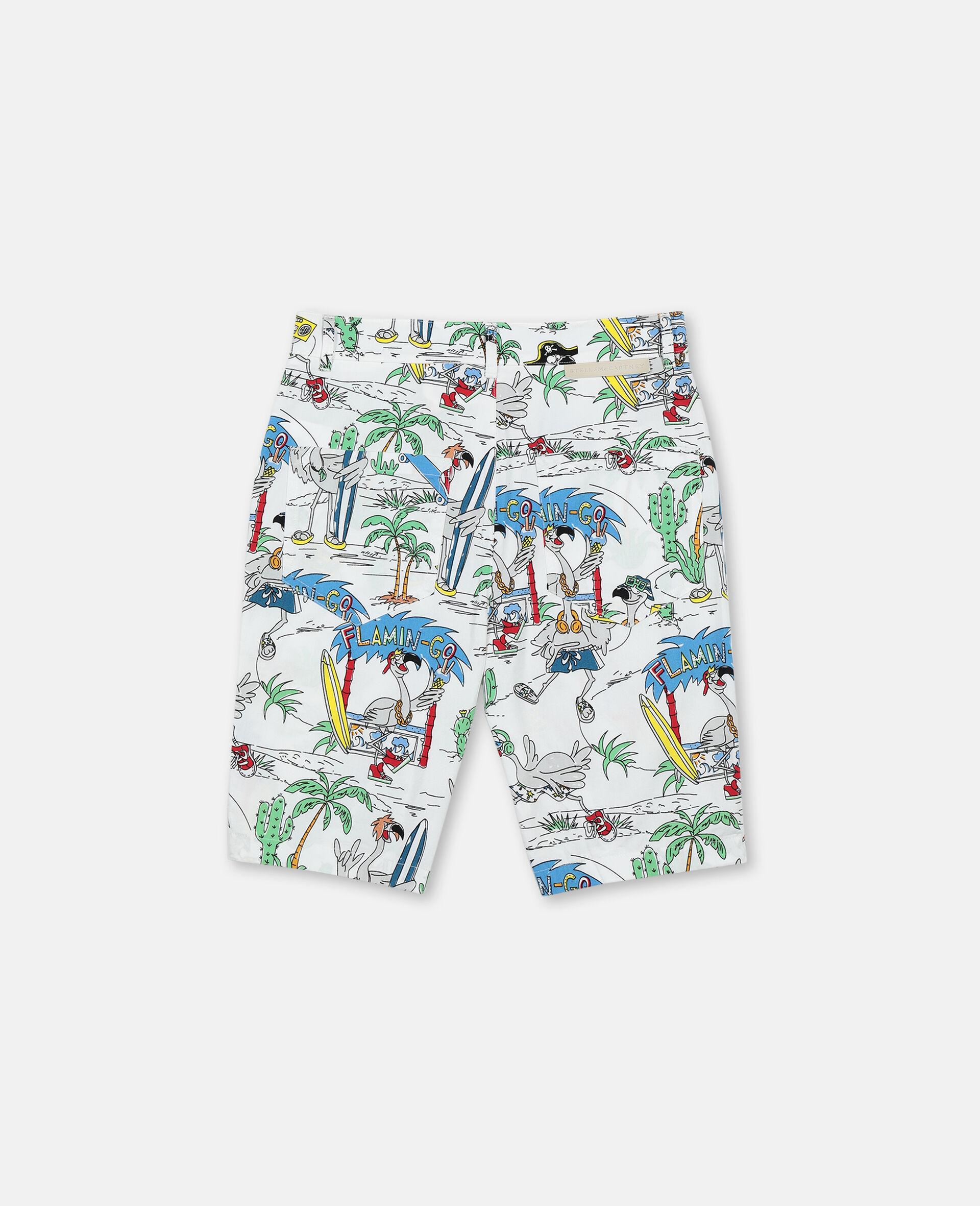 Flamingo Land Cotton Shorts -Multicolour-large image number 3