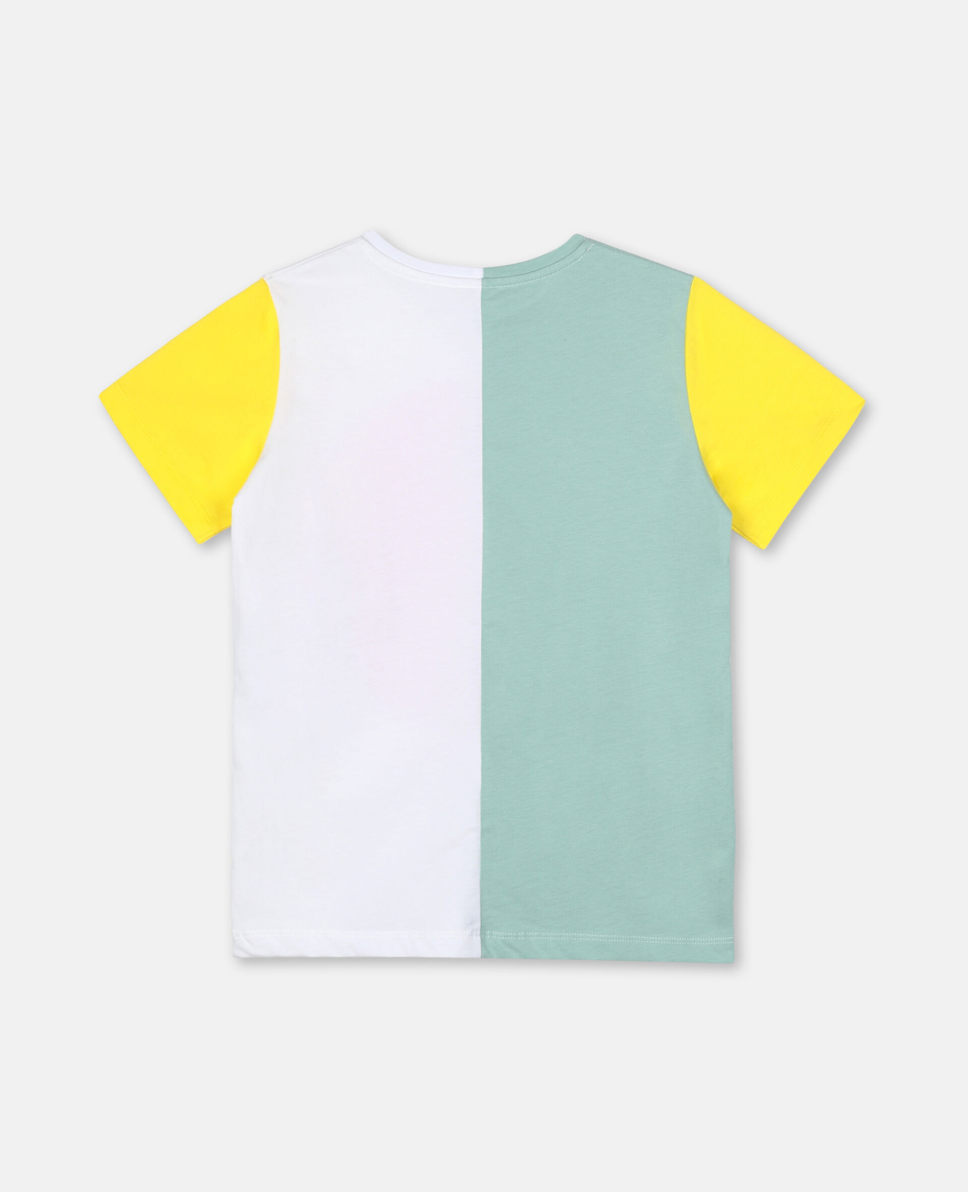 Color-Block Cotton Logo T-shirt-Green-large image number 3
