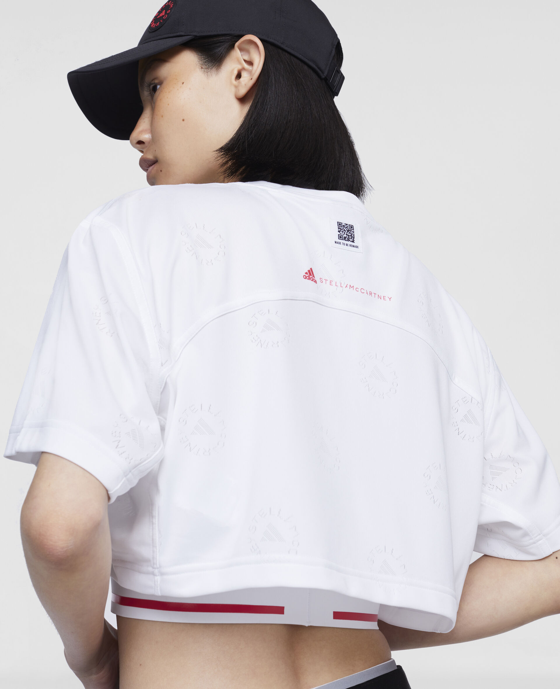 短款 T 恤-白色-large image number 3