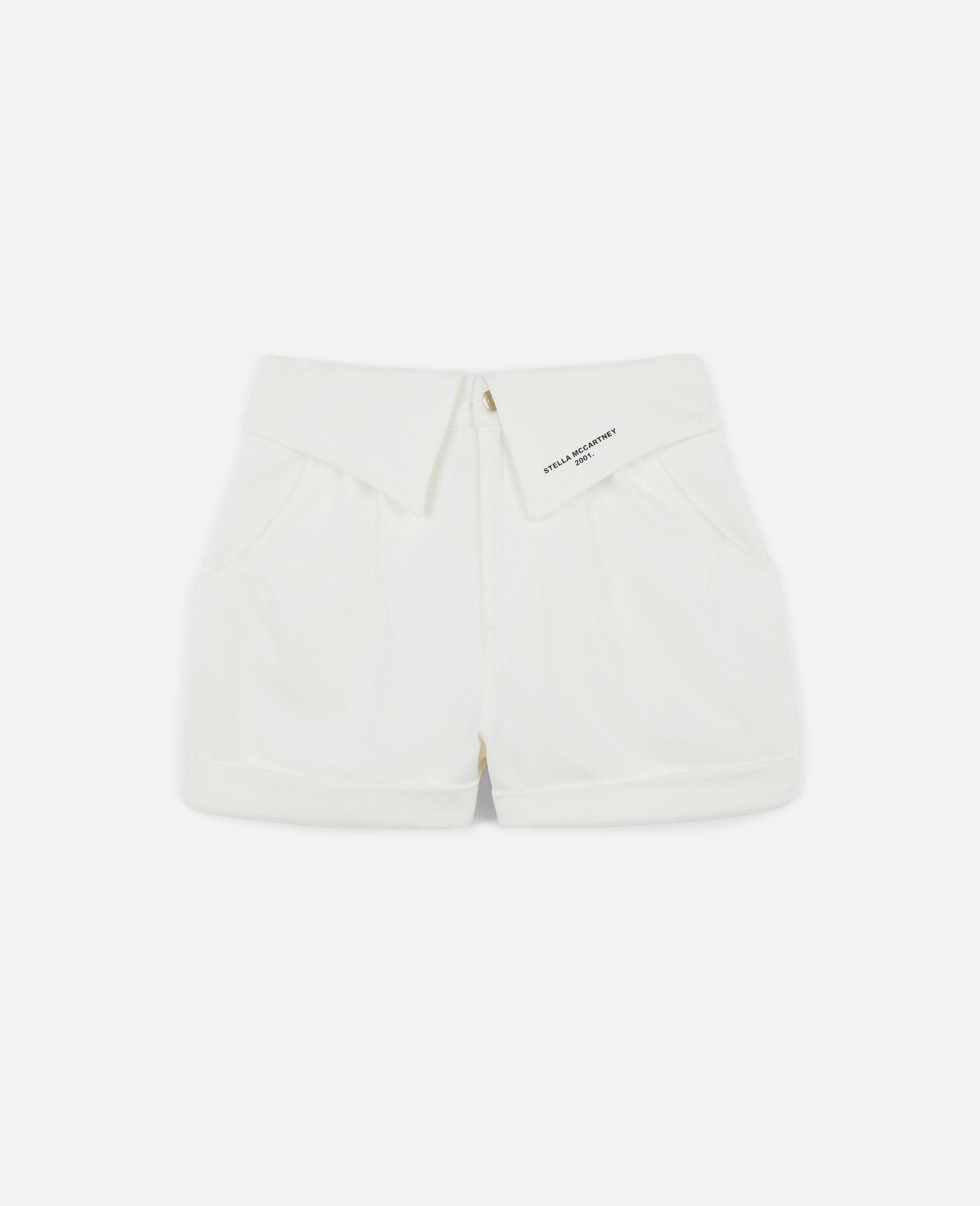Denim 短裤-白色-large image number 0