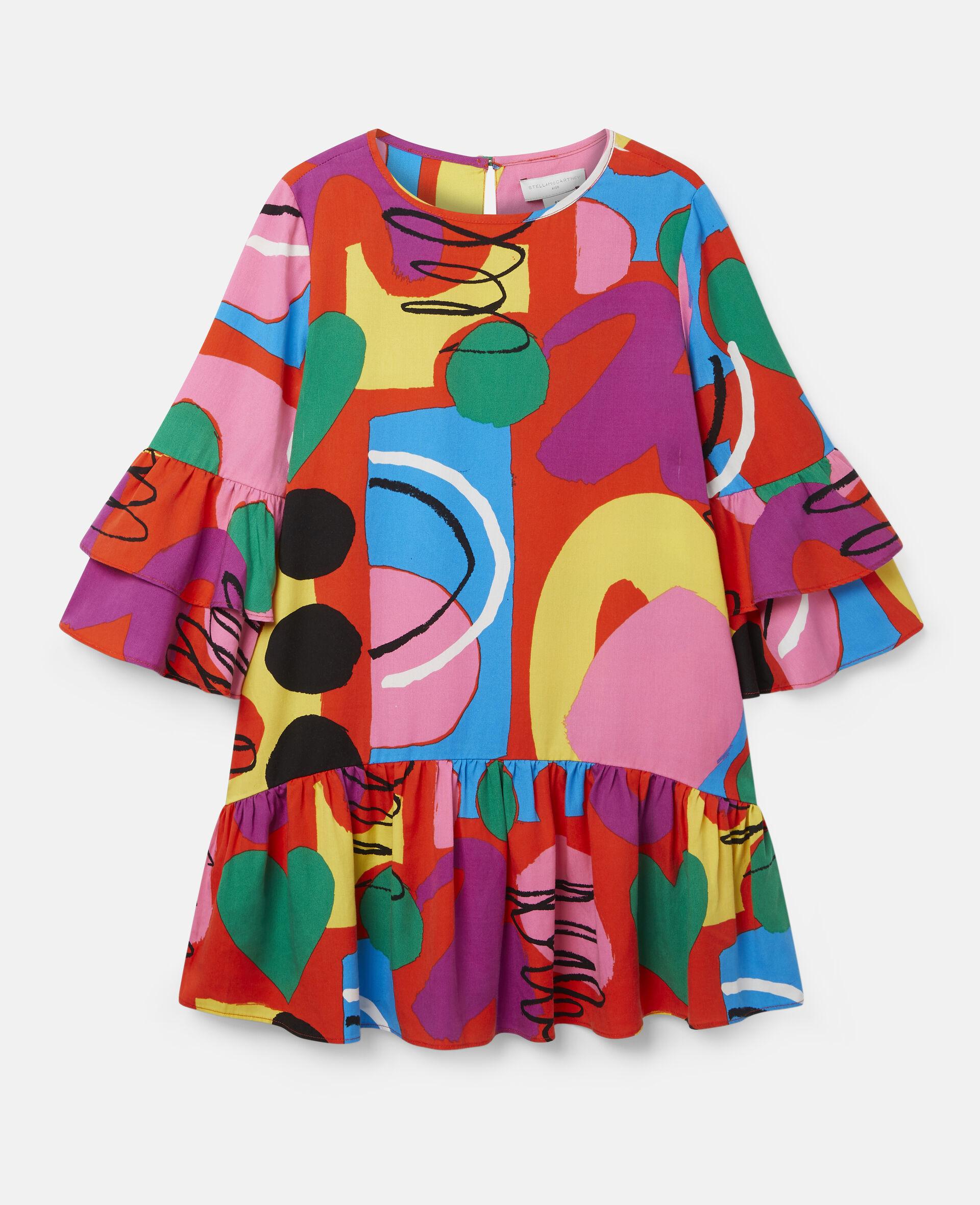 彩绘天丝斜纹布连衣裙-Multicolored-large image number 0