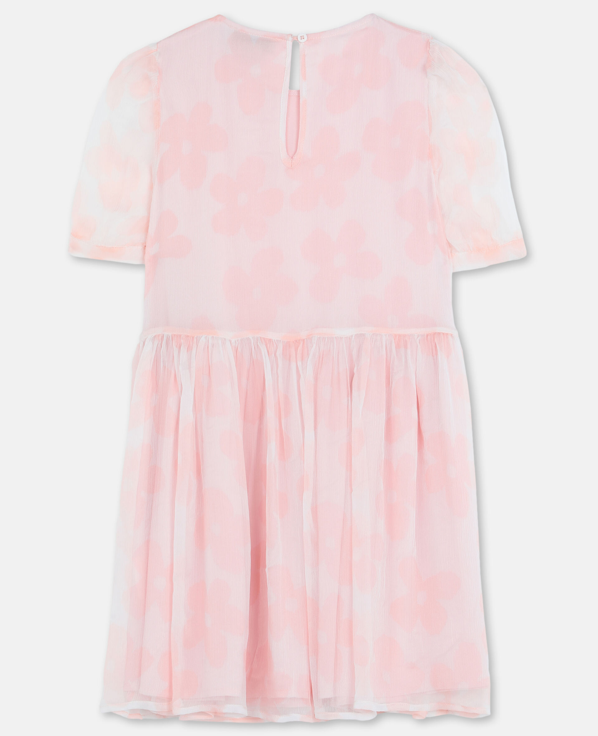 Flowers Georgette Silk Dress-Pink-large image number 3