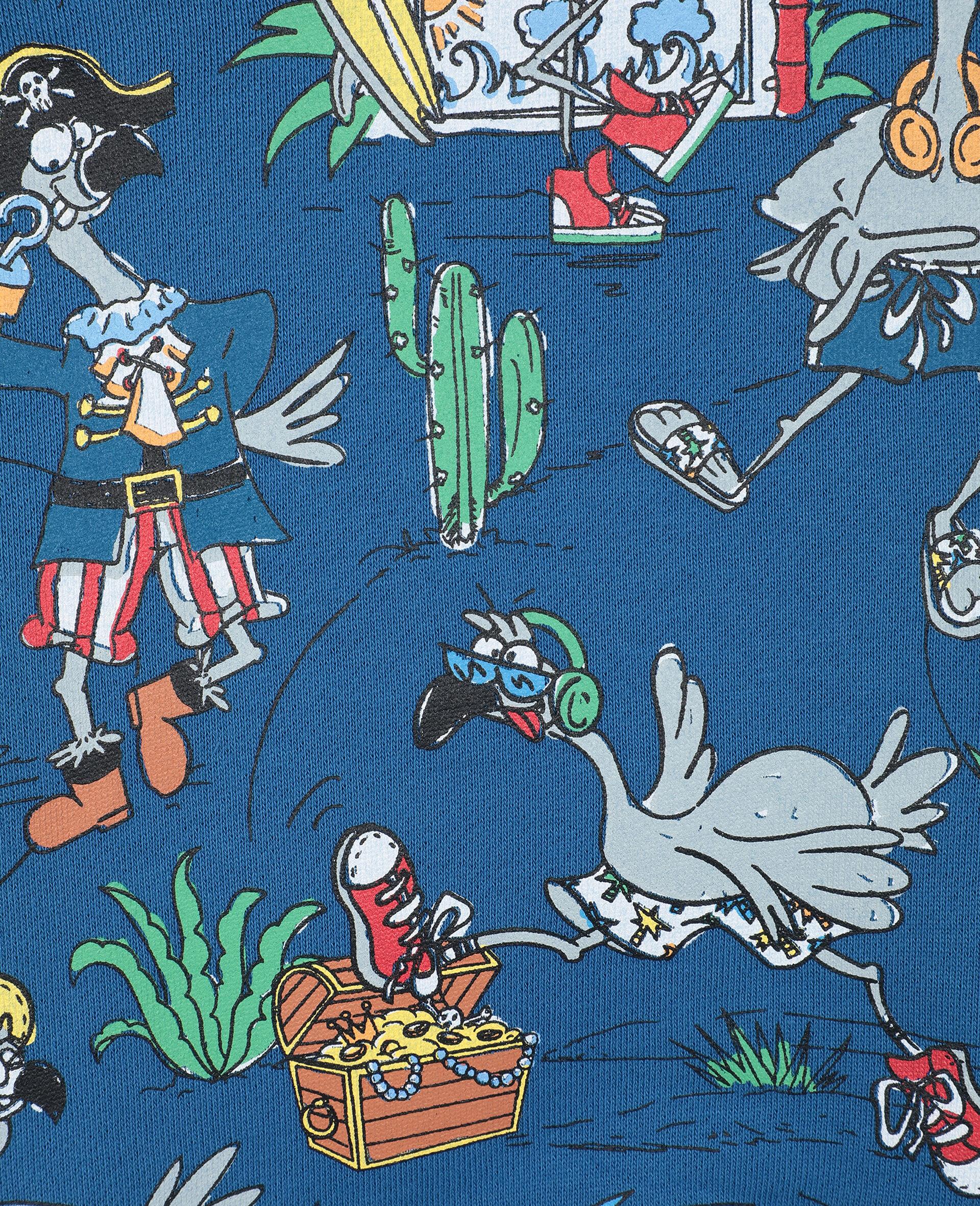 Flamingo Land Cotton Sweatshirt -Blue-large image number 1