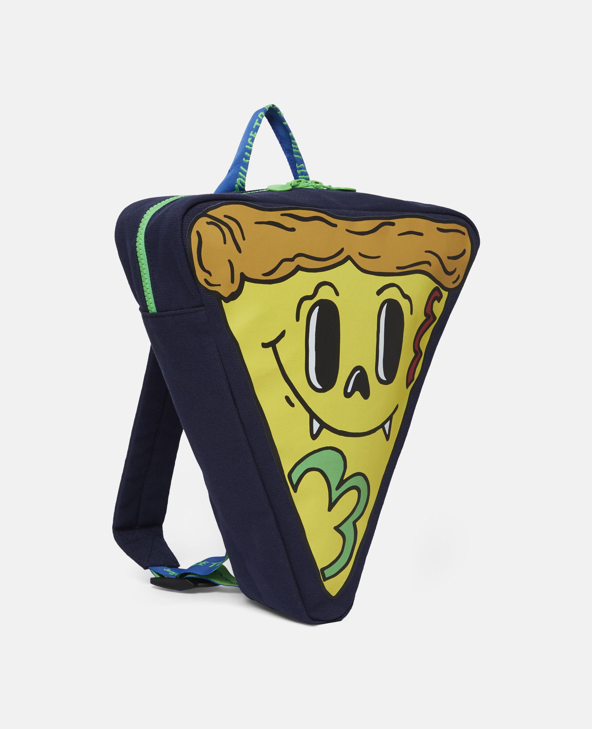 Canvas-Rucksack in Pizzastückform-Blau-large image number 1