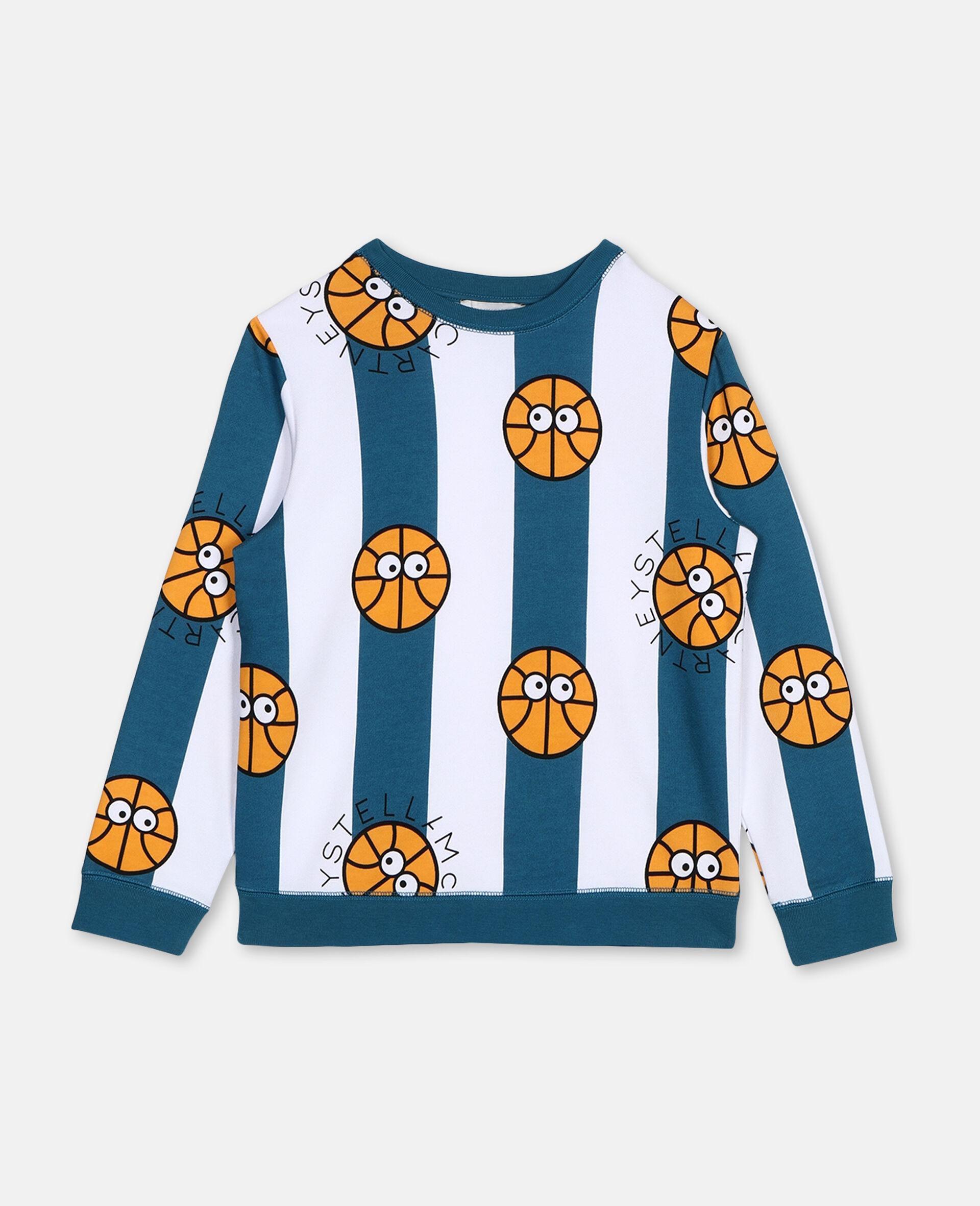 Basketball Cotton Sweatshirt -Multicoloured-large image number 0