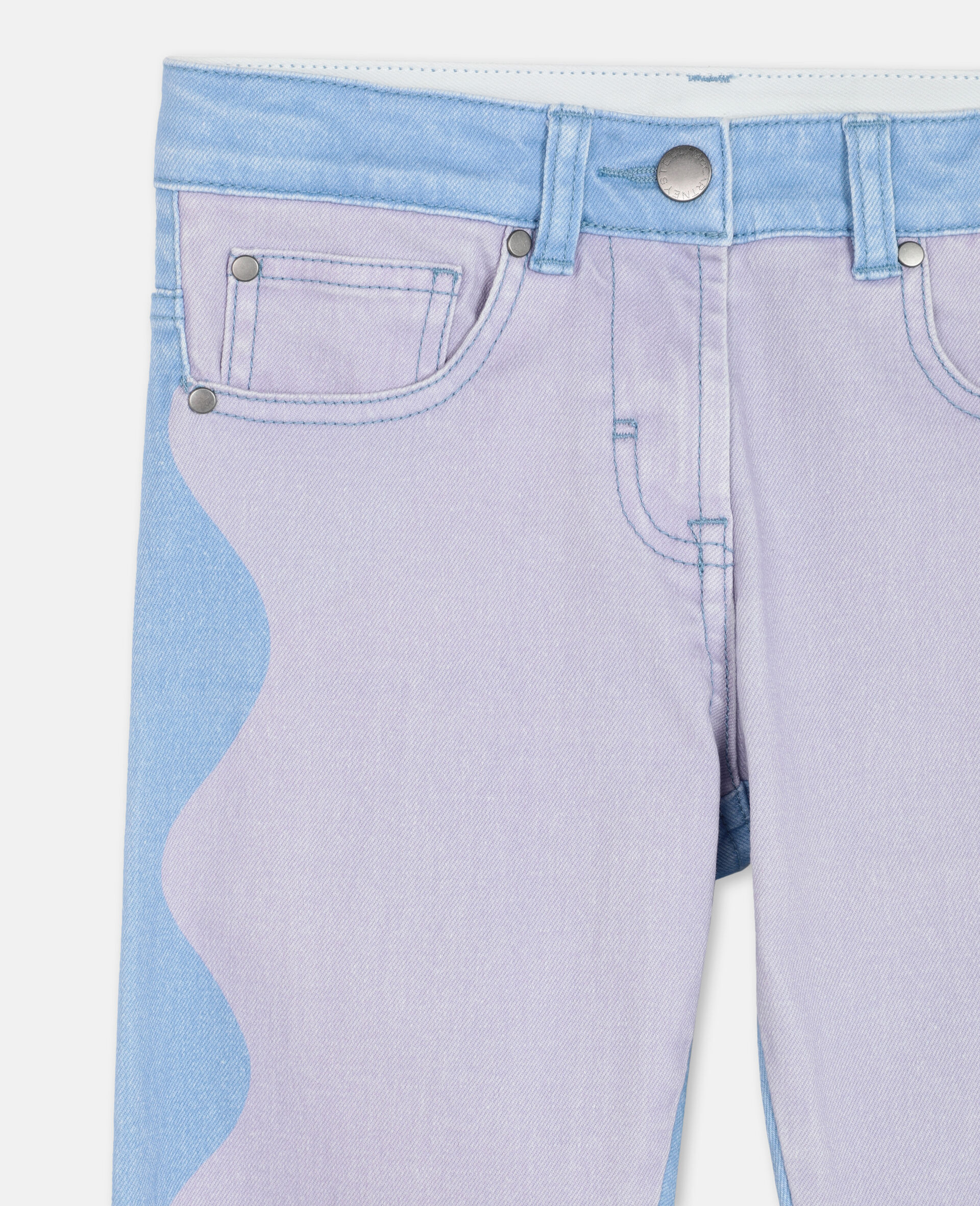 Swiggle Mom Denim Trousers-Pink-large image number 1