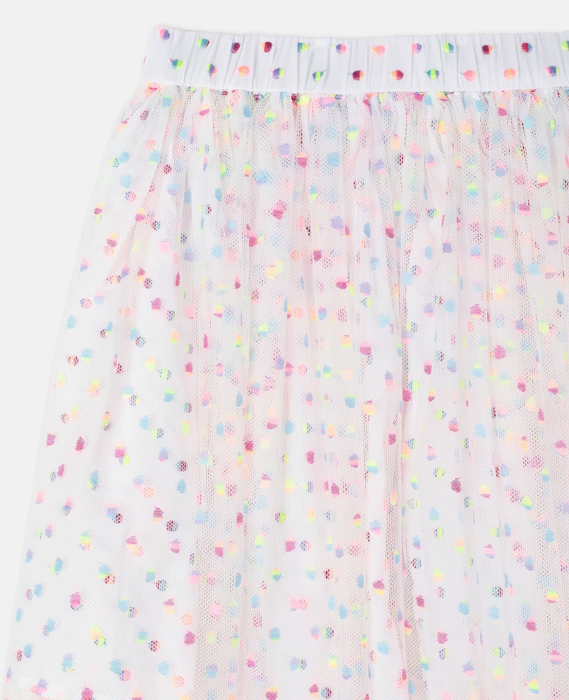 Embroidered Dots Tulle Skirt -Multicolour-large image number 2