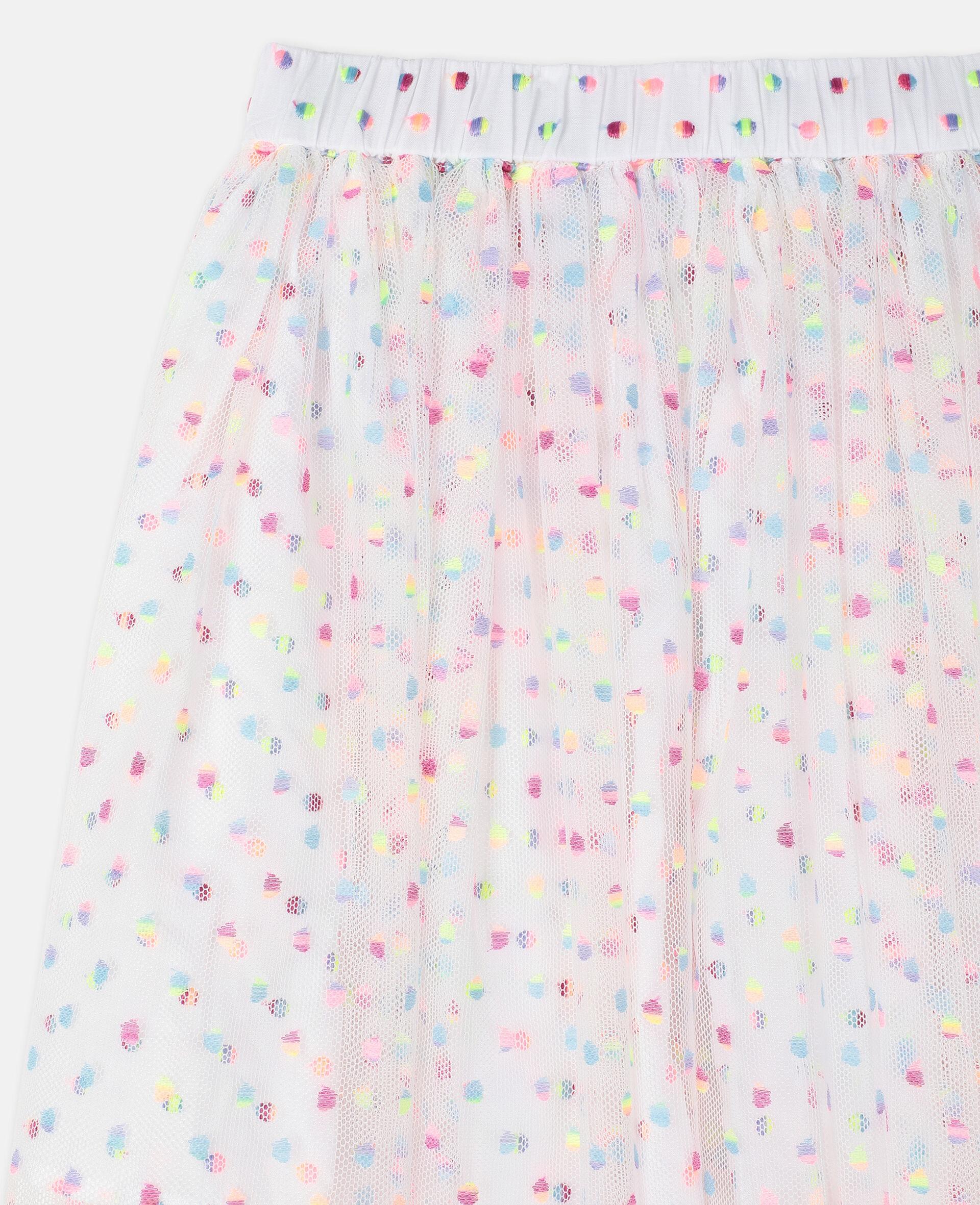 刺绣波点绢网半身裙 -Multicolored-large image number 2