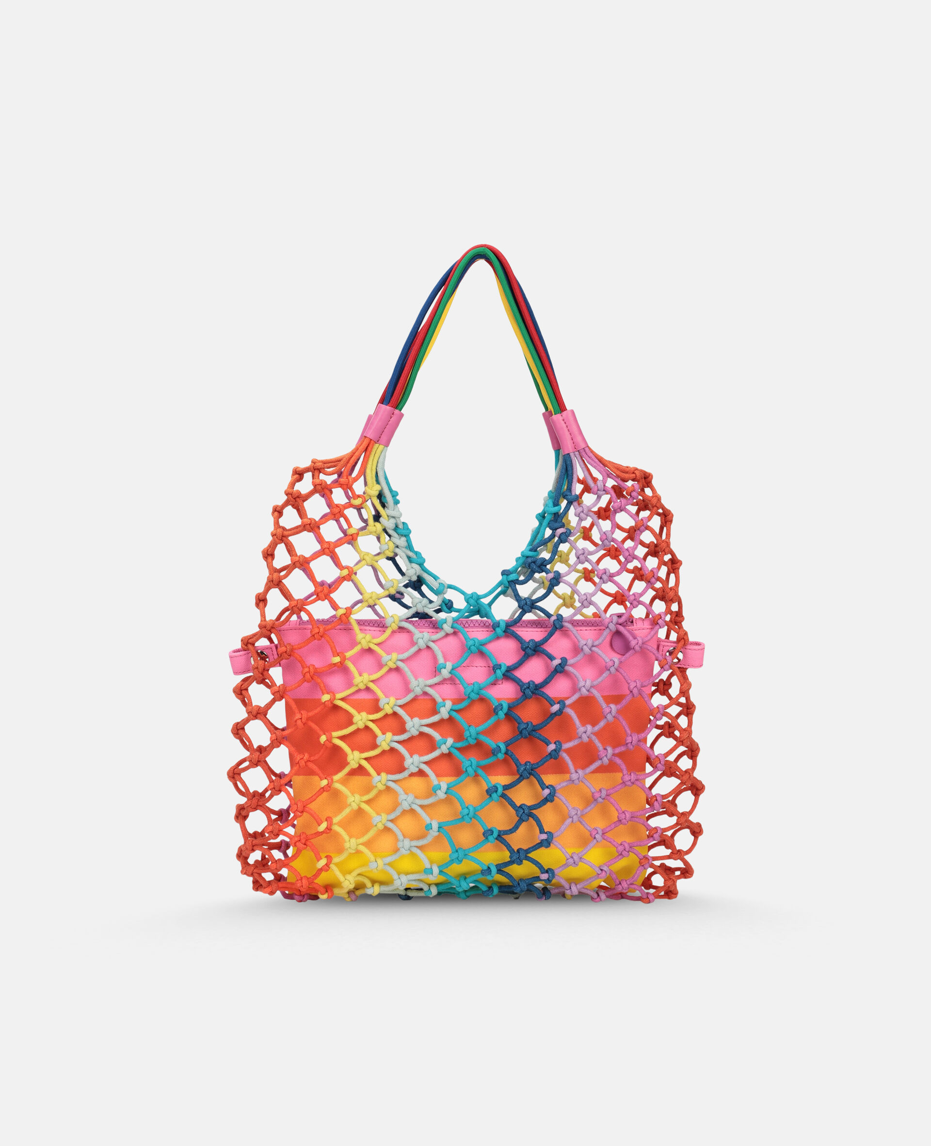 Multicolour Knotted Handbag -Multicolour-large image number 3