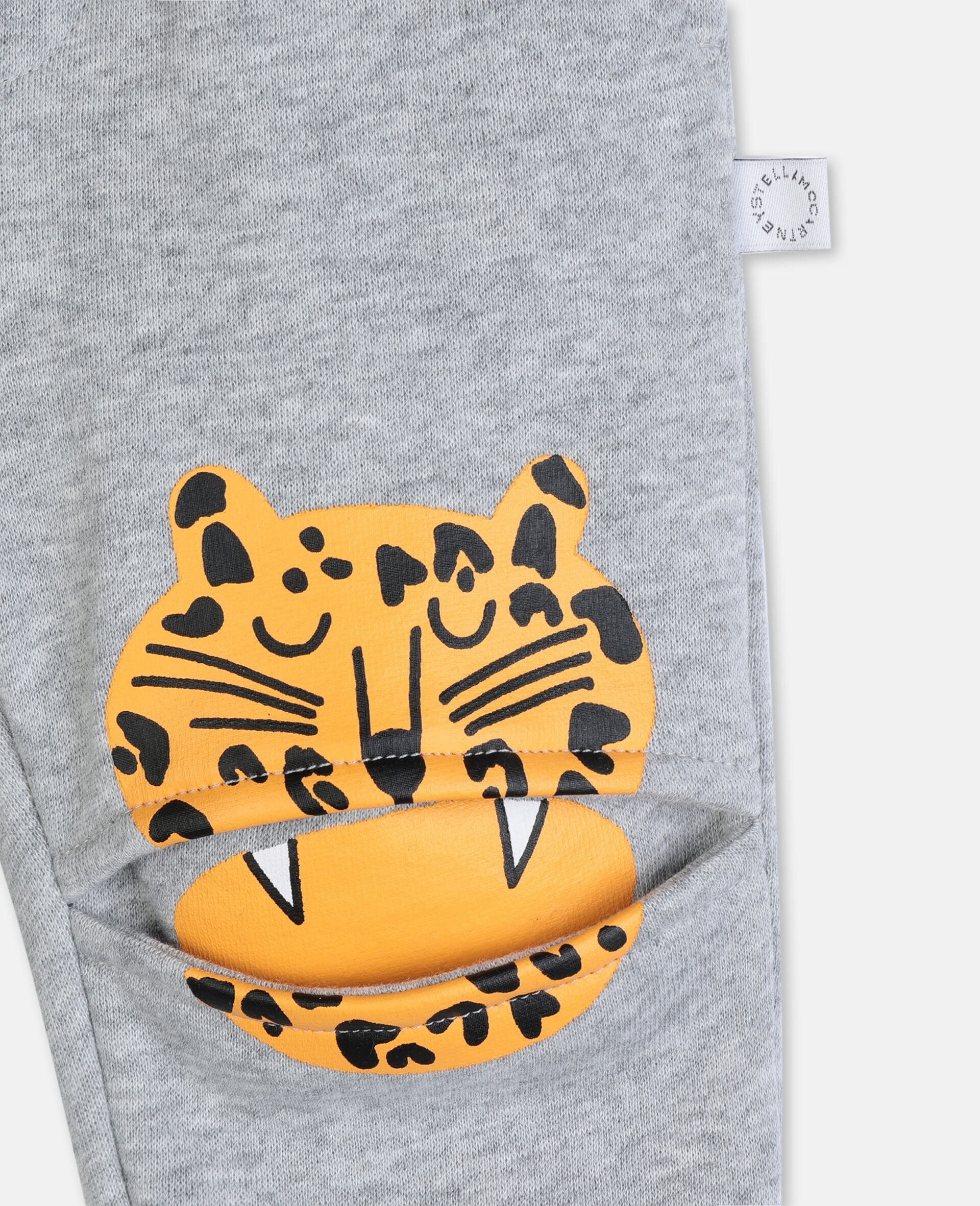Funny Tiger Cotton Joggers-Grey-large image number 1