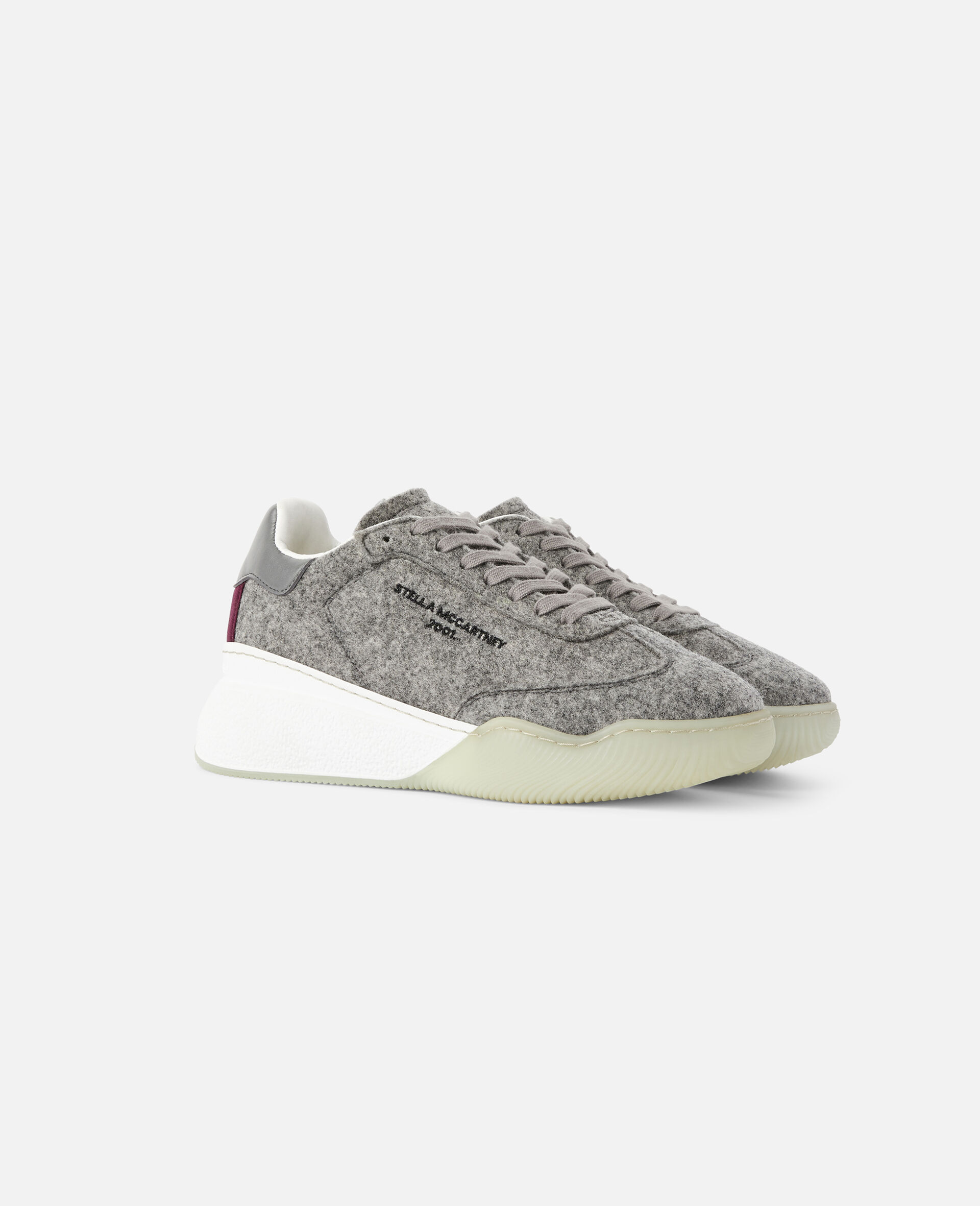 Loop Lace-up Sneakers-Grey-large image number 1