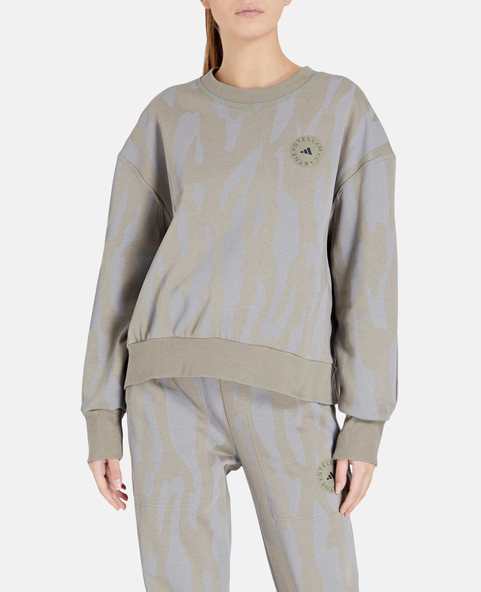 Grey Training Sweatshirt -Grey-large image number 4