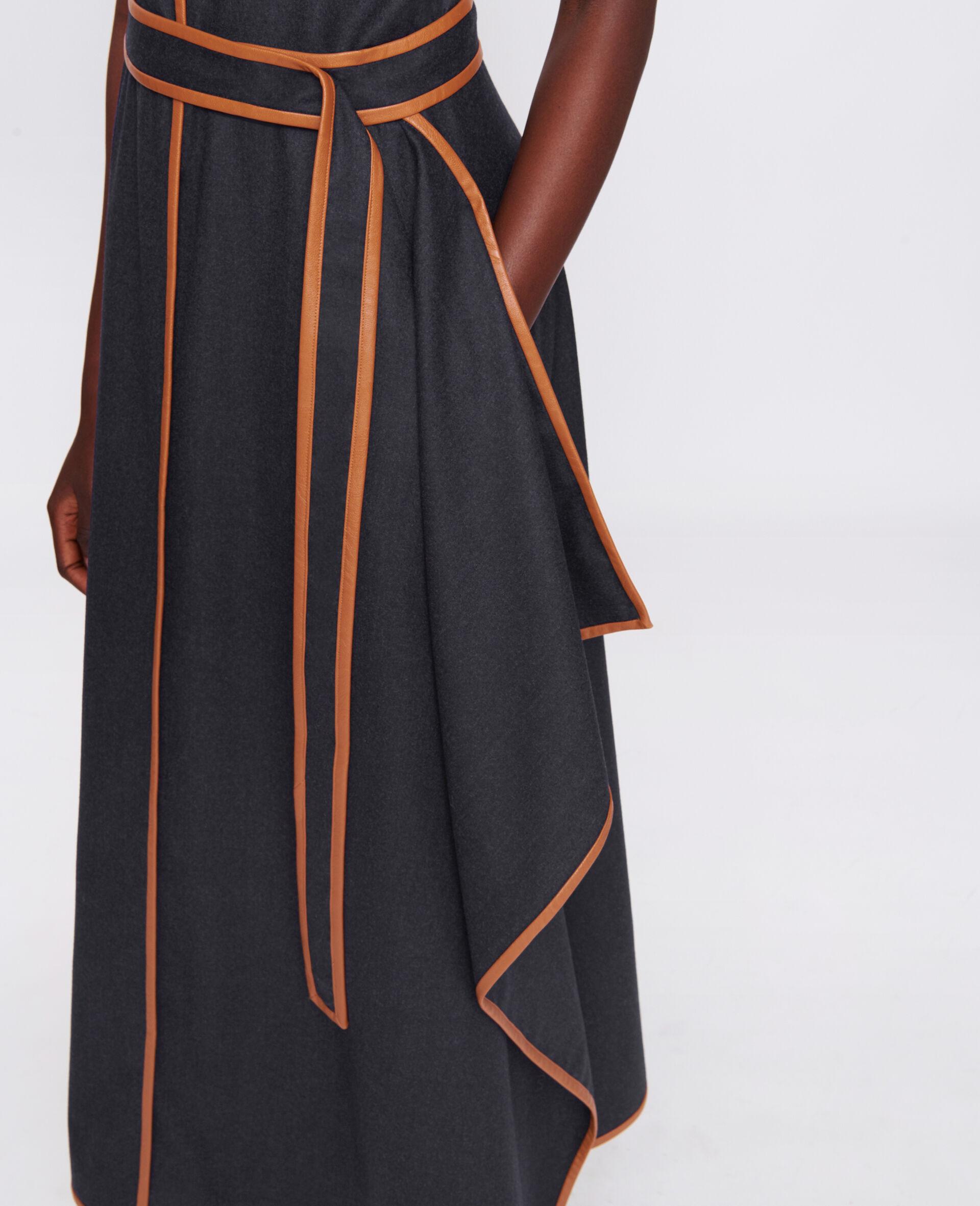 Eloise Wool Flannel Dress-Blue-large image number 3