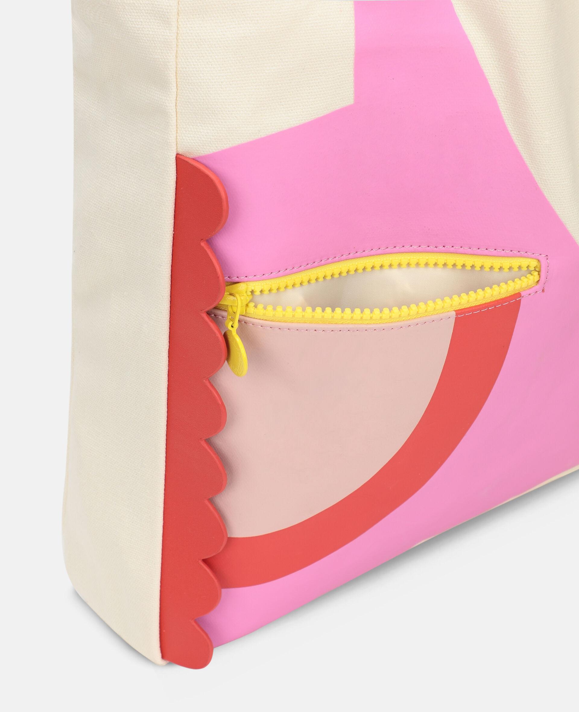 Flamingo Canvas Tote Bag -White-large image number 2