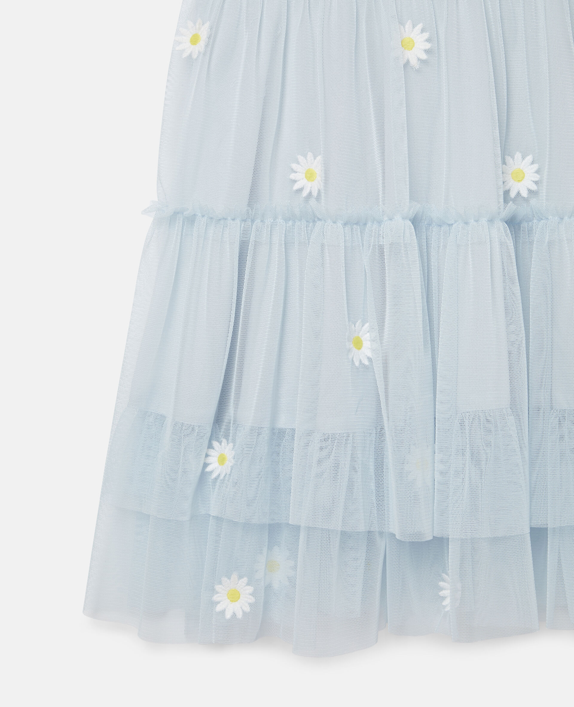 Embroidered Daisies Tulle Dress-Blue-large image number 1