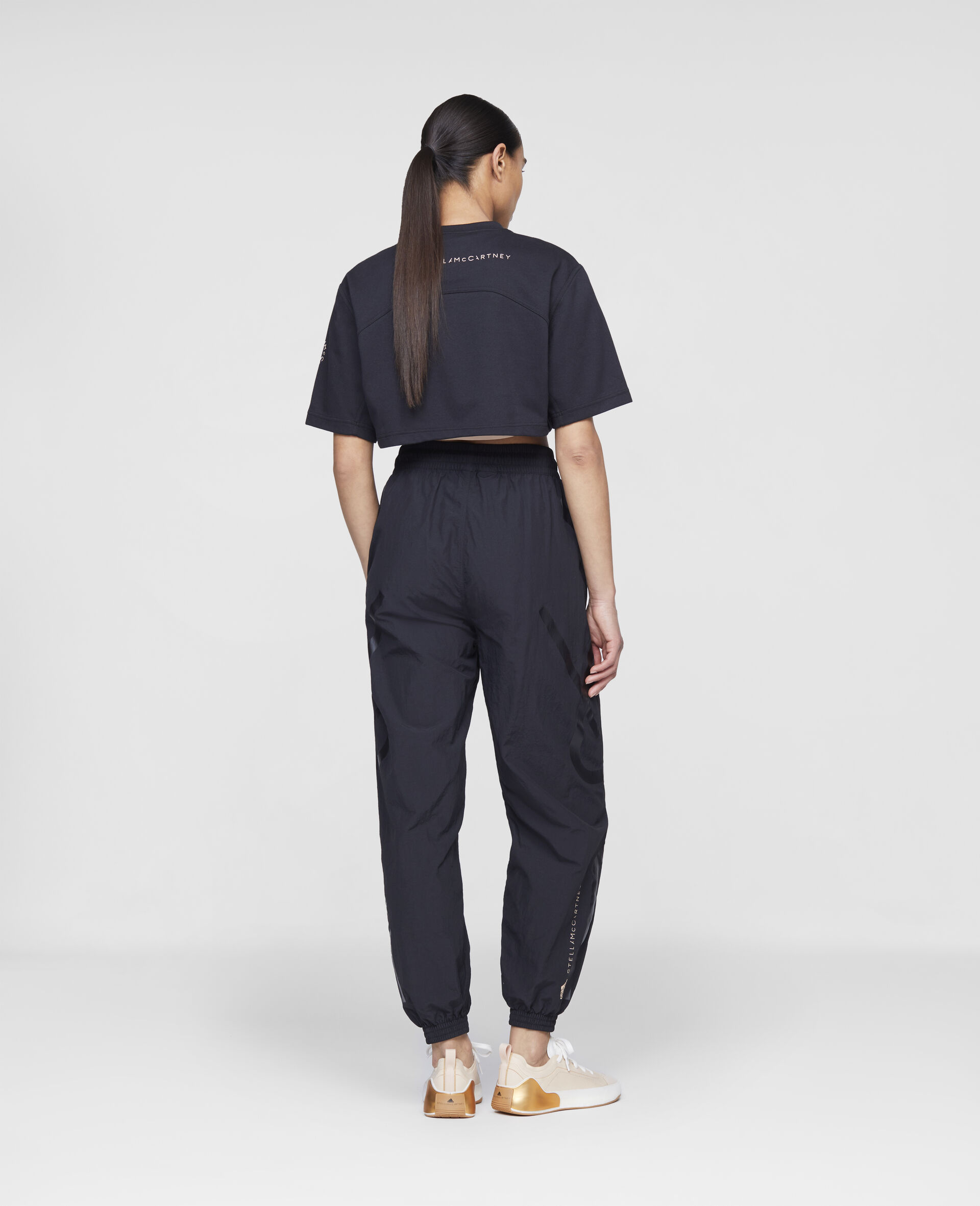 黑色编织训练长裤-黑色-large image number 2