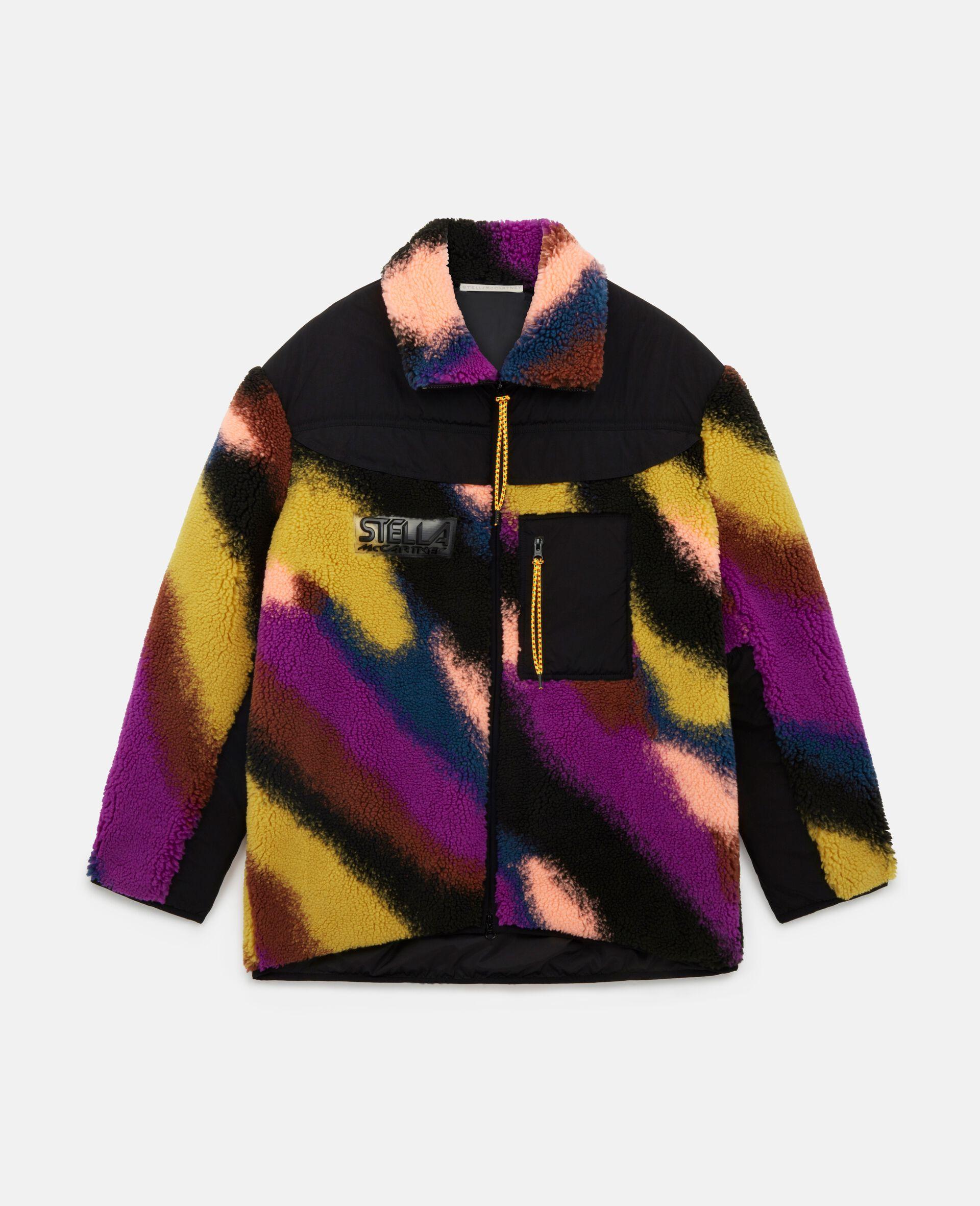 Marley Jacquard Teddy Mat Jacket-Multicolour-large image number 0
