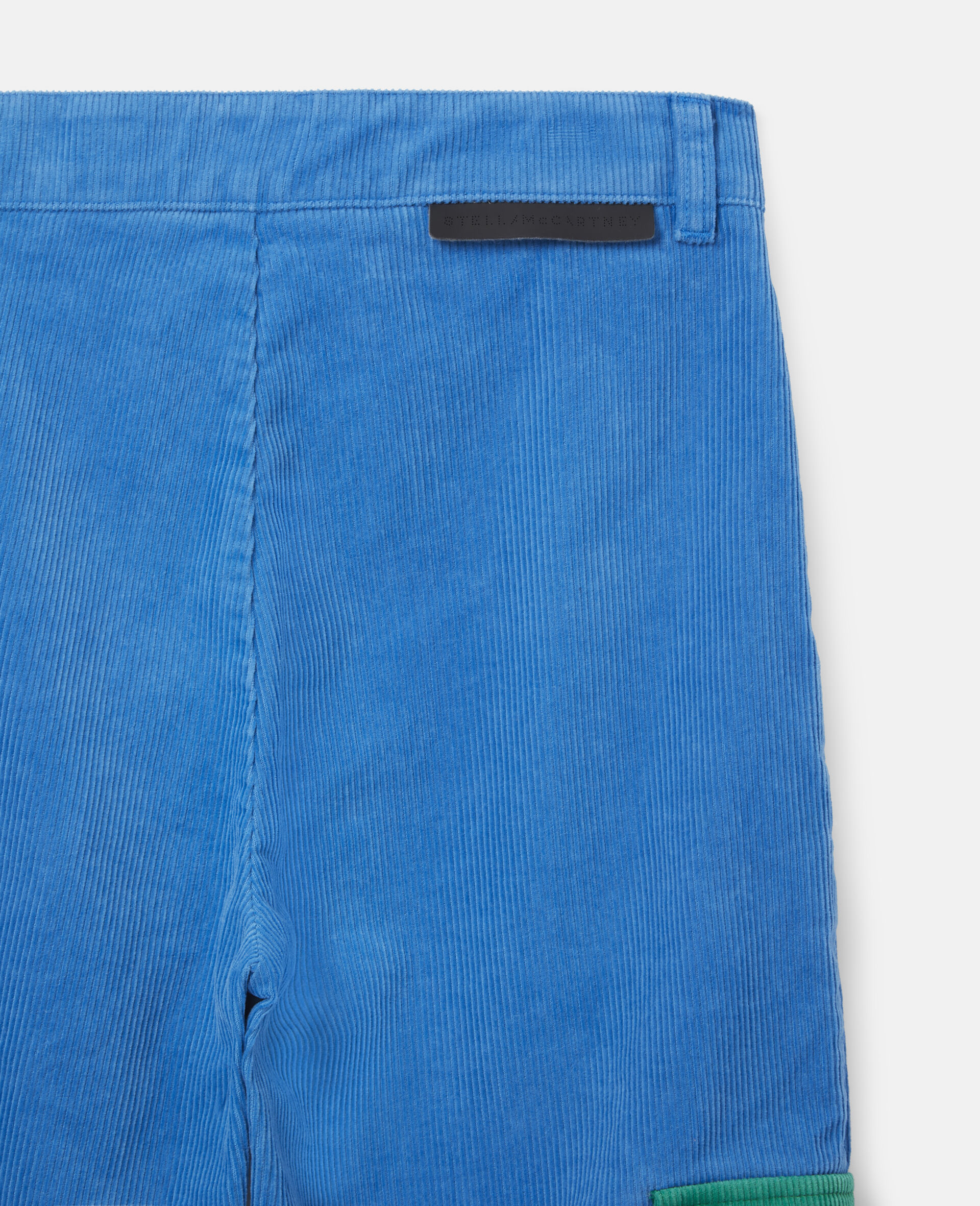 Cargo Corduroy Trousers-Blue-large image number 2