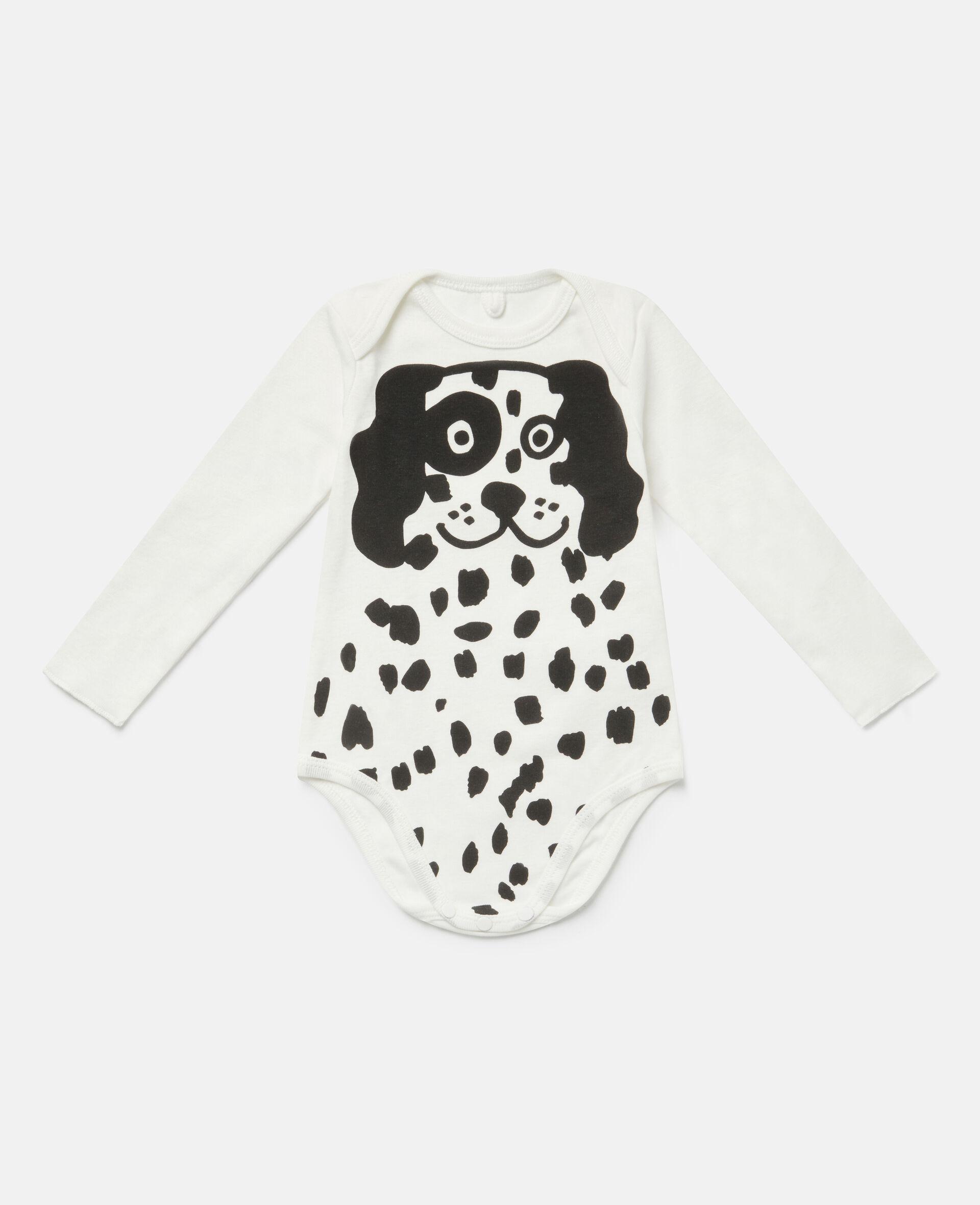Ensemble de bodys en jersey côtelé à dalmatiens-Blanc-large image number 1