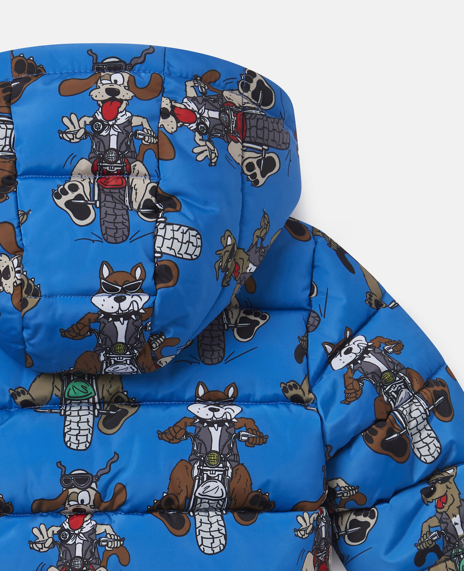 Doggie Riders Puffer Jacket-Blue-large image number 2
