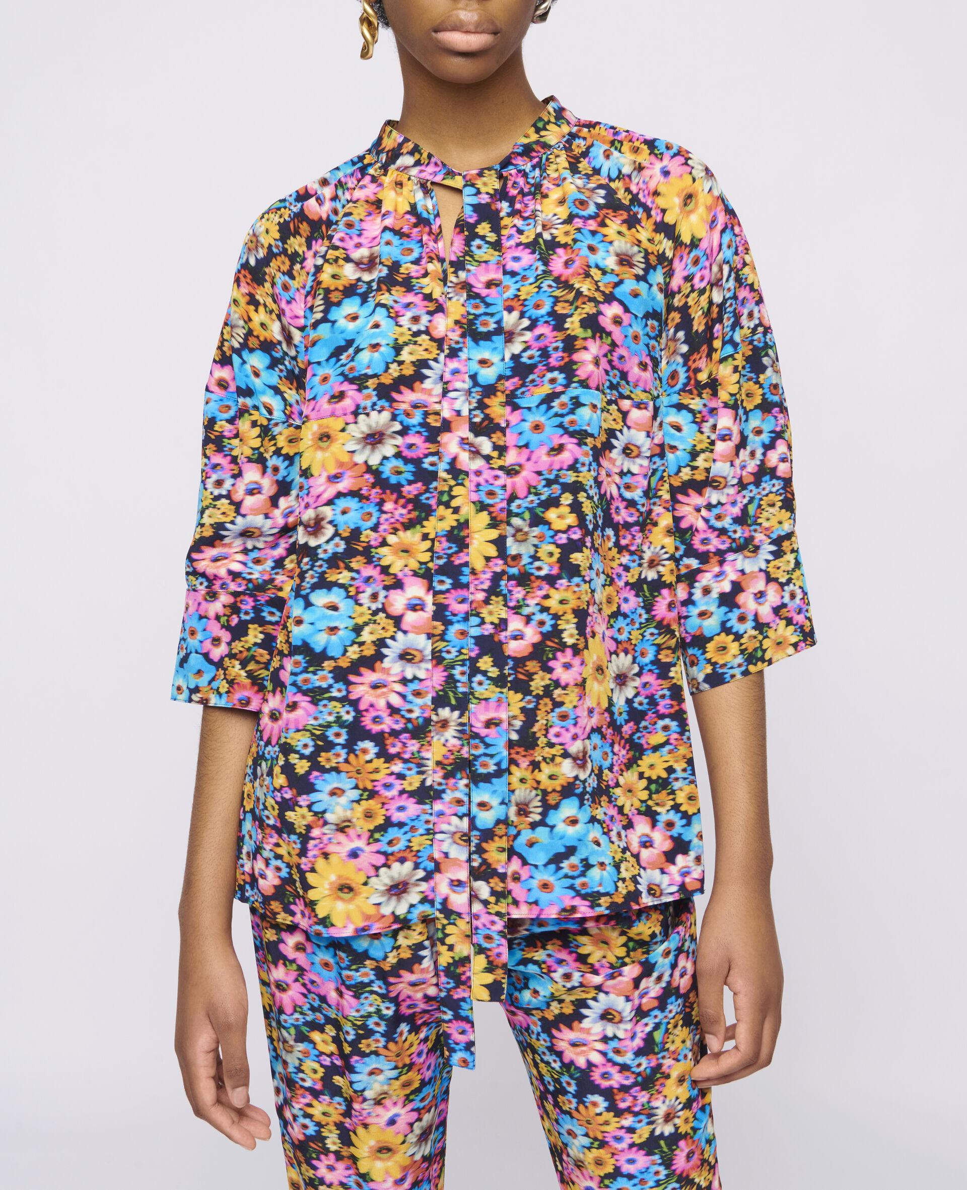 Sophia Silk Top-Multicolour-large image number 3