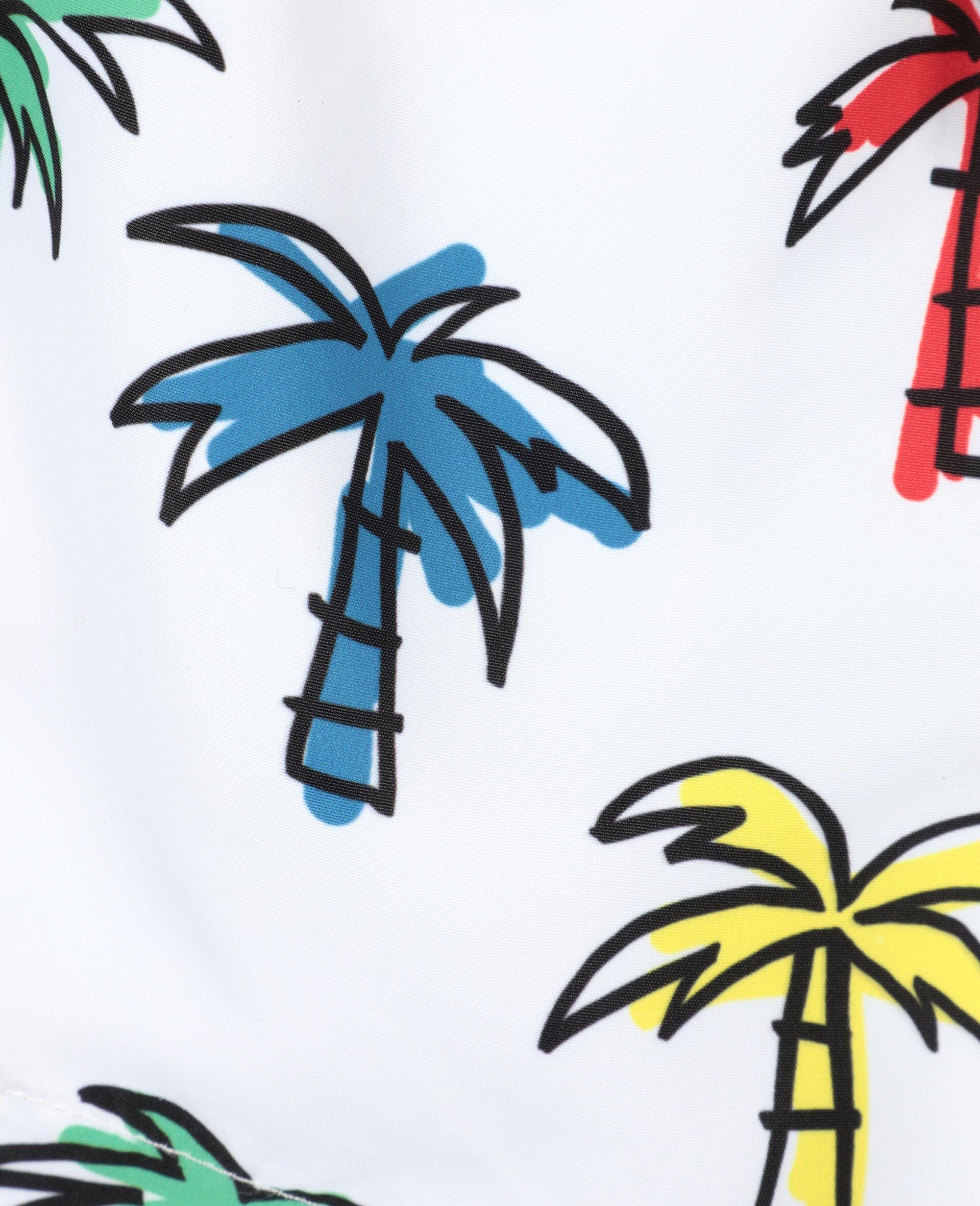 Doodly Palm Trees Swim Shorts-Multicolour-large image number 1