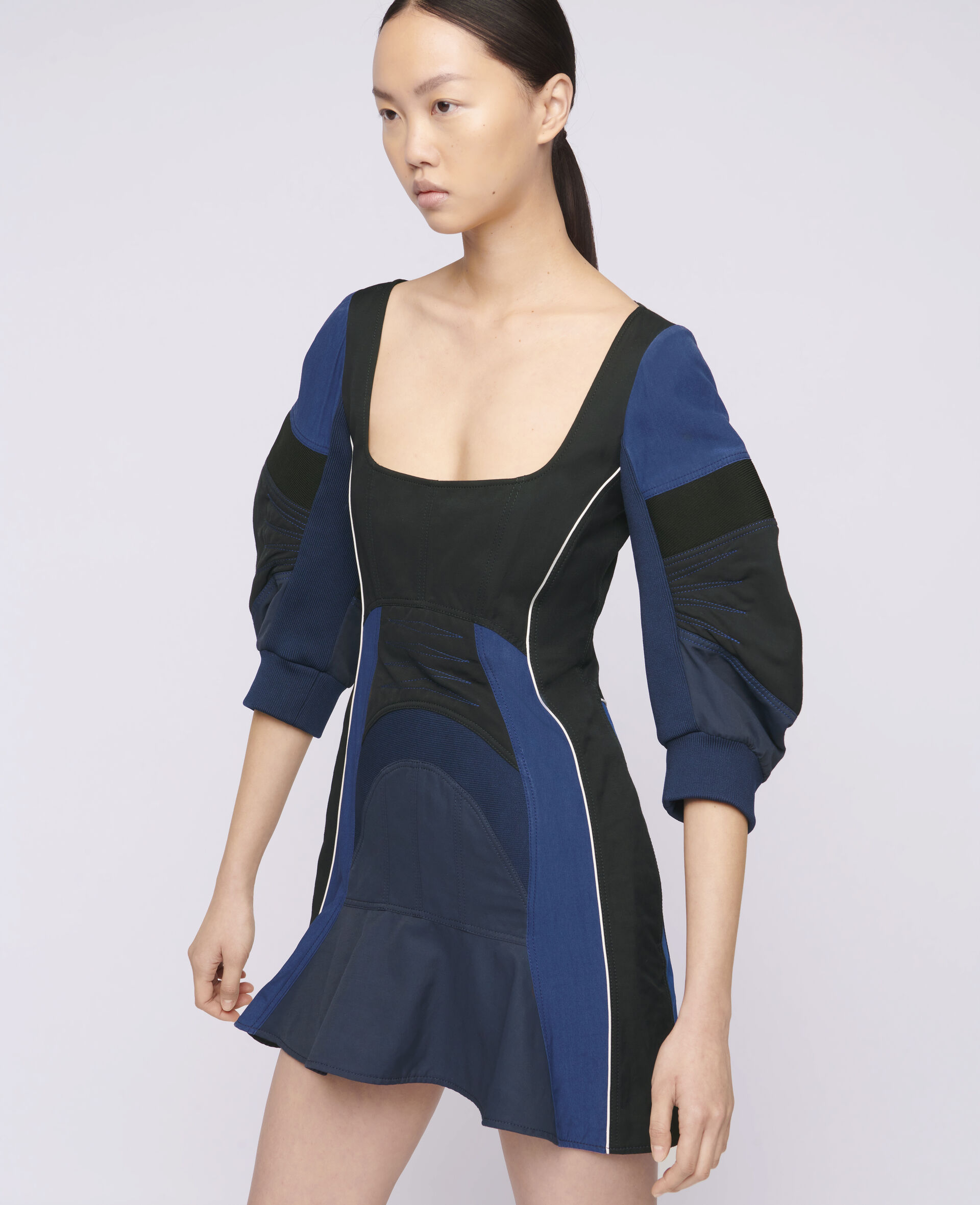 Giselle Mini Dress-Black-large image number 3