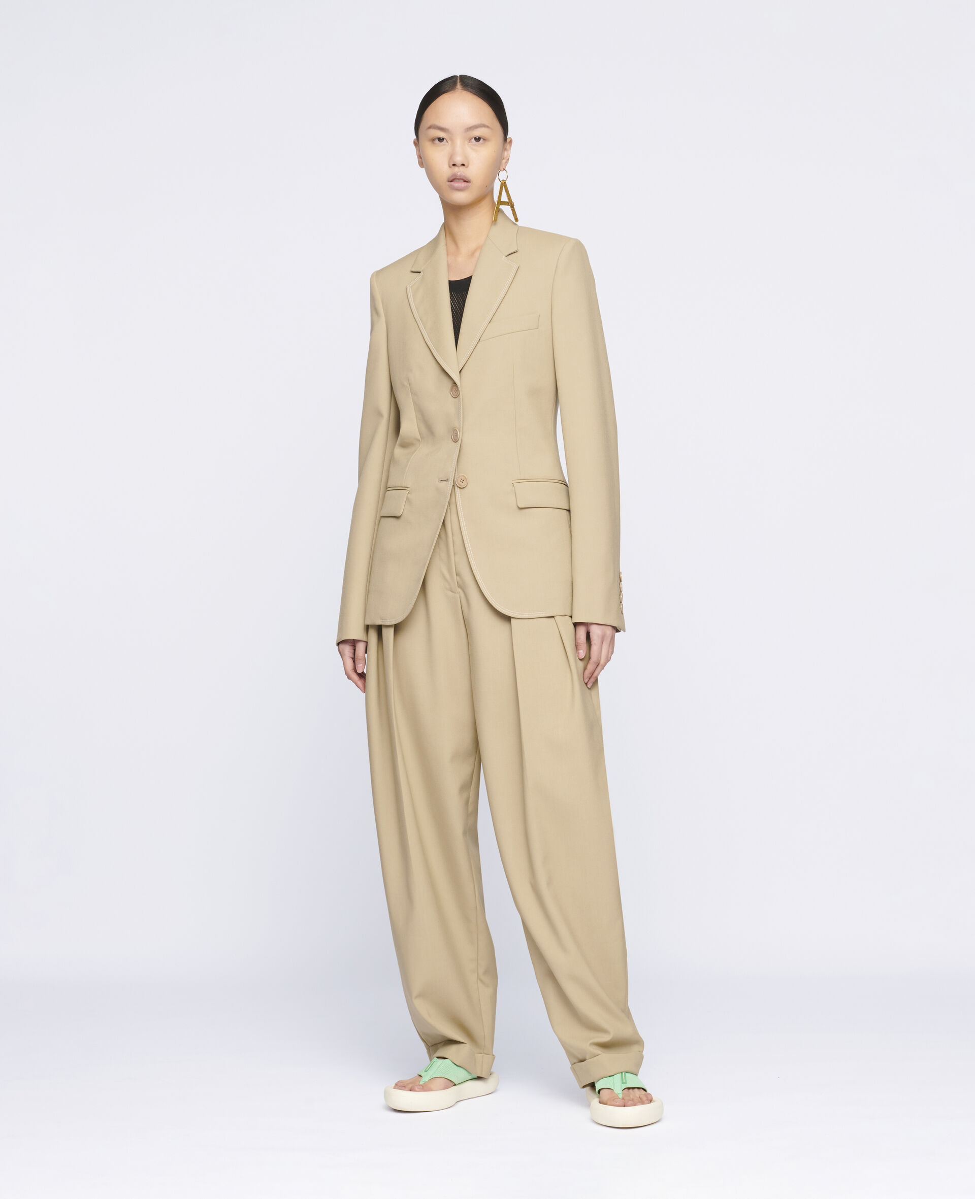 Ariana Wool Trousers-Beige-large image number 1